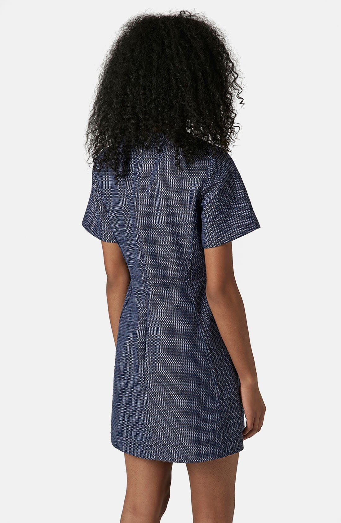 Alternate Image 2  - Topshop Raw Seam Bouclé Shift Dress