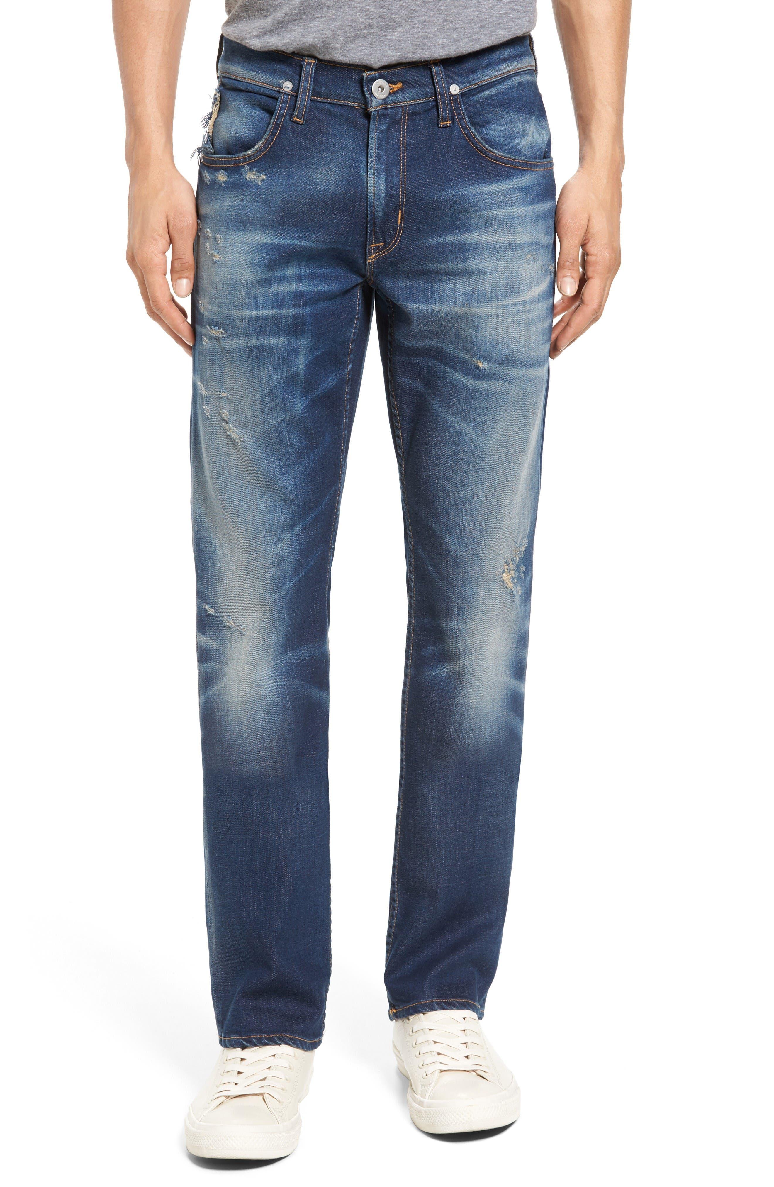 Hudson Jeans Byron Slim Straight Leg Jeans (Distortion)