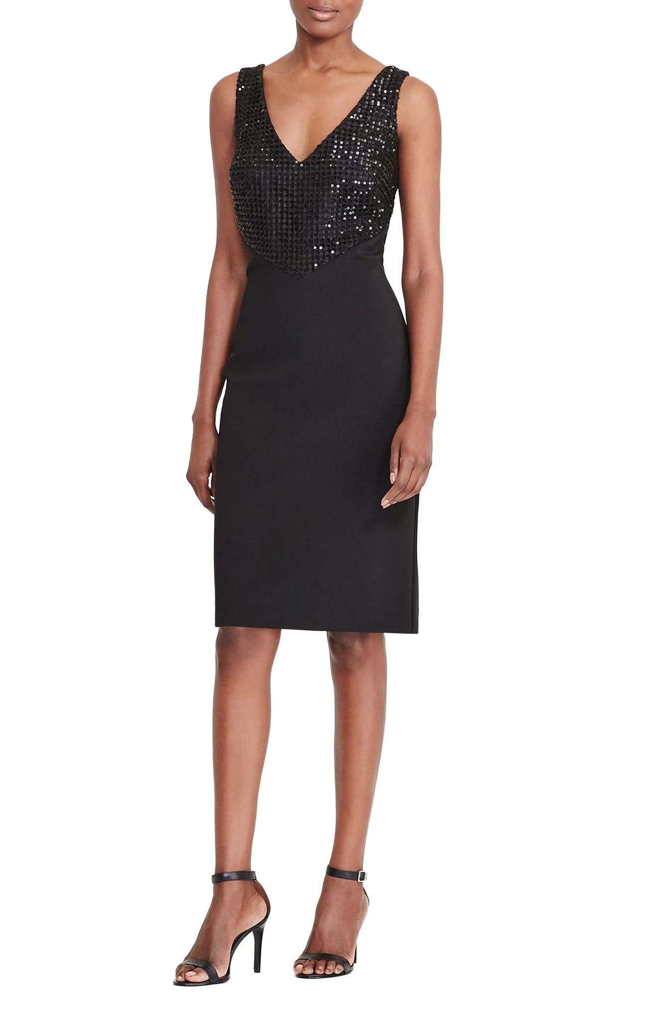 Lauren Ralph Lauren Embellished Sheath Dress