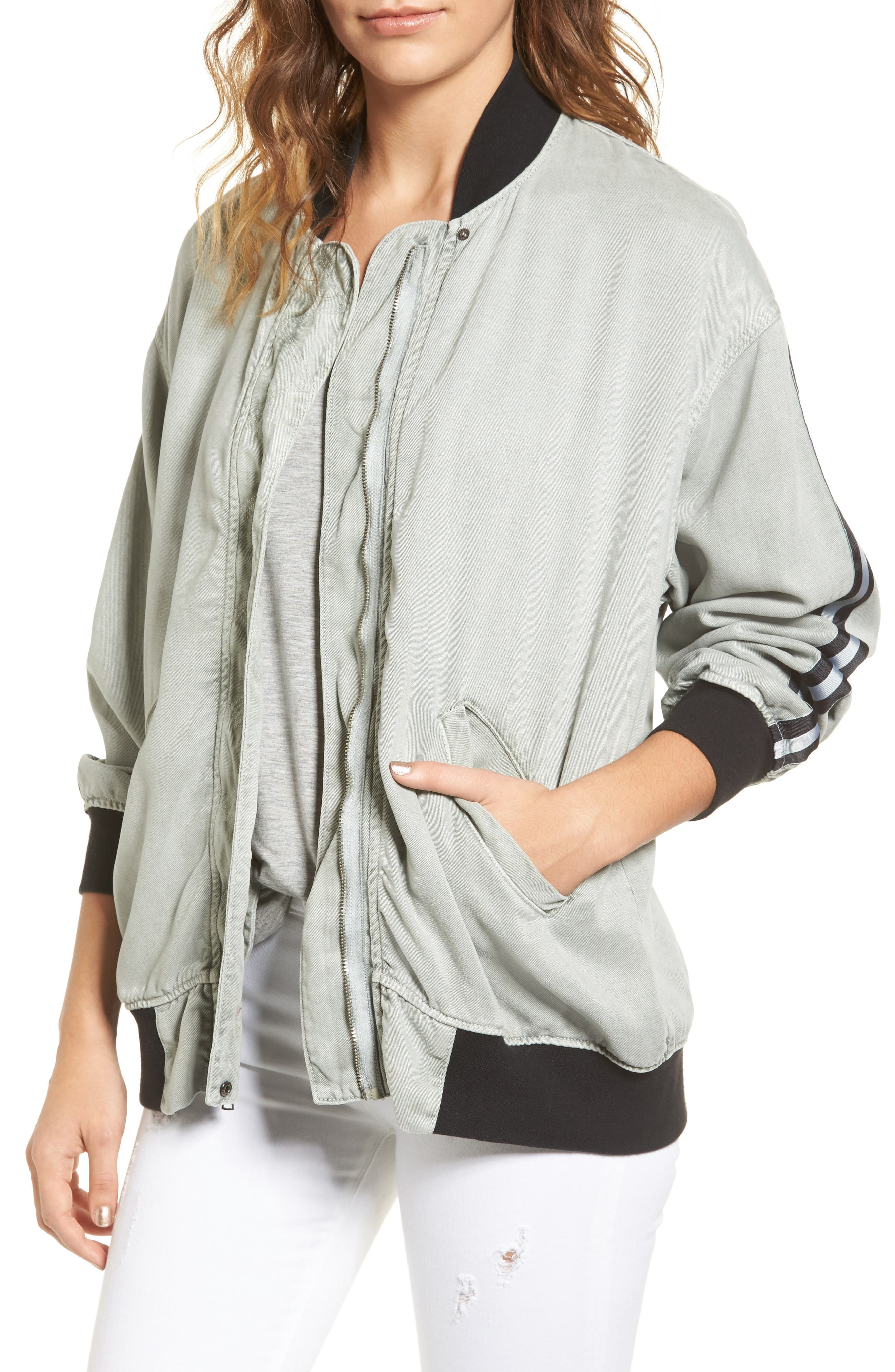 Hudson Jeans Nova Varsity Jacket