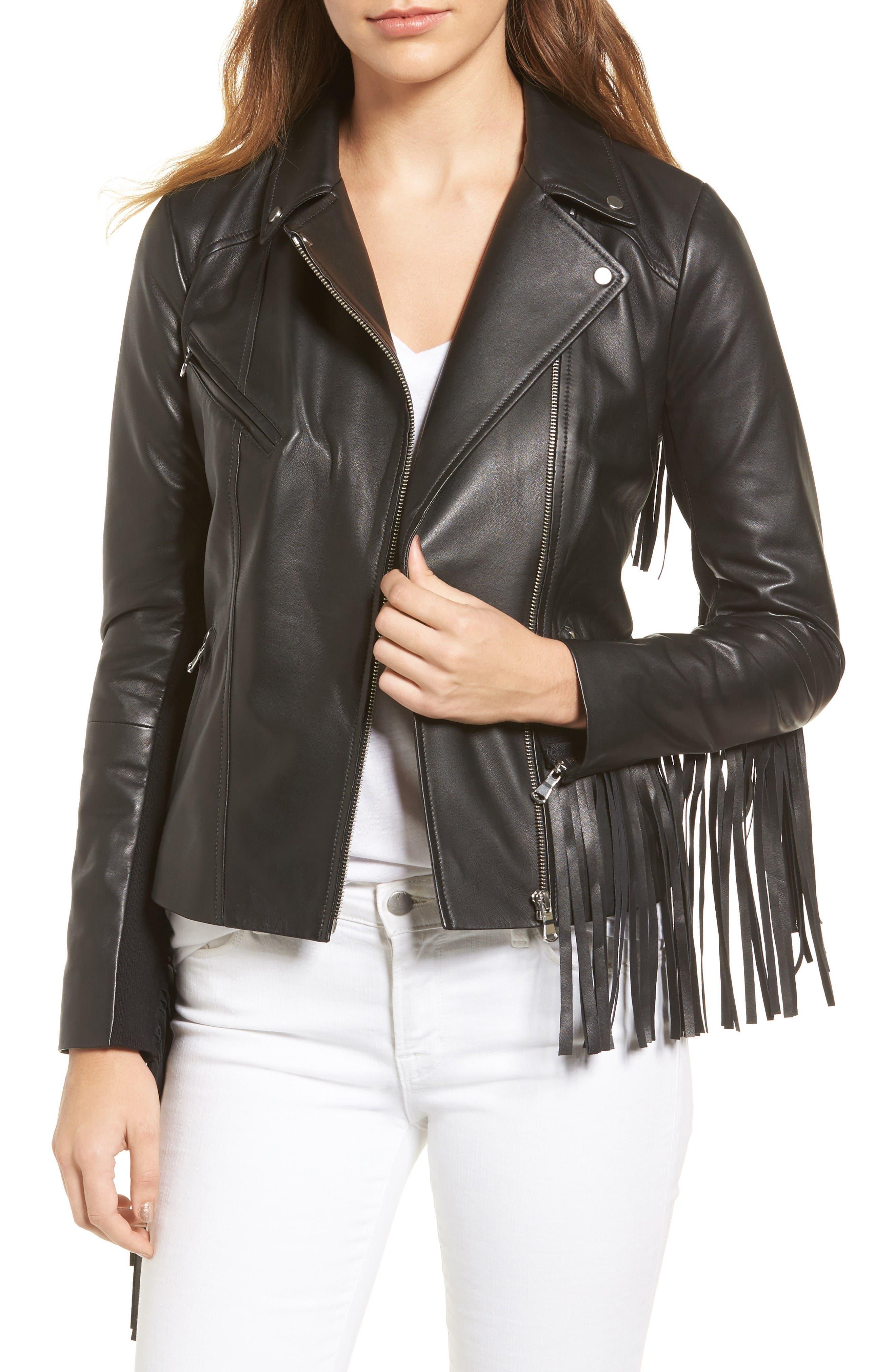 Trouvé Fringe Moto Leather Jacket