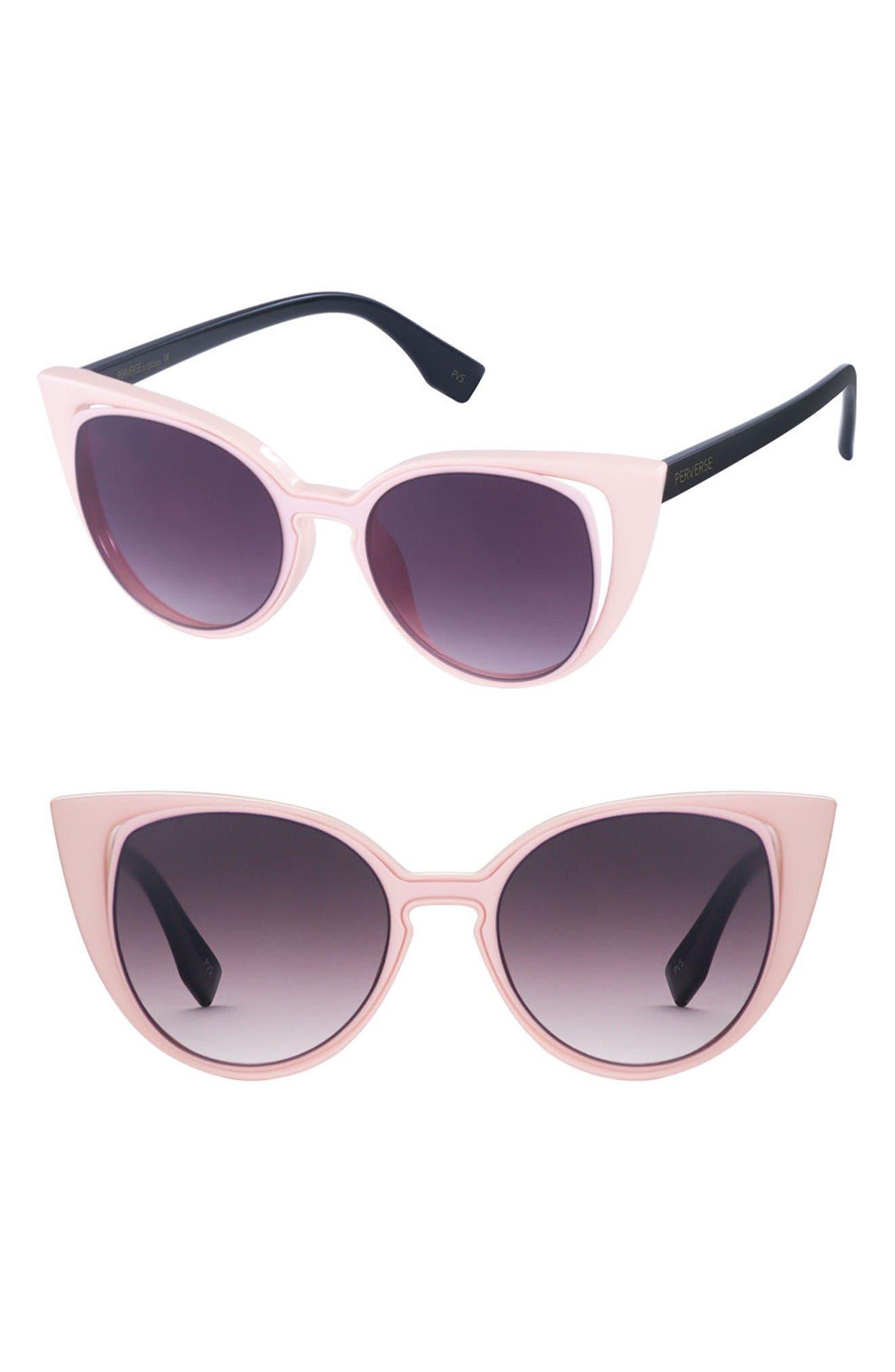 PERVERSE Saga 55mm Cat Eye Sunglasses