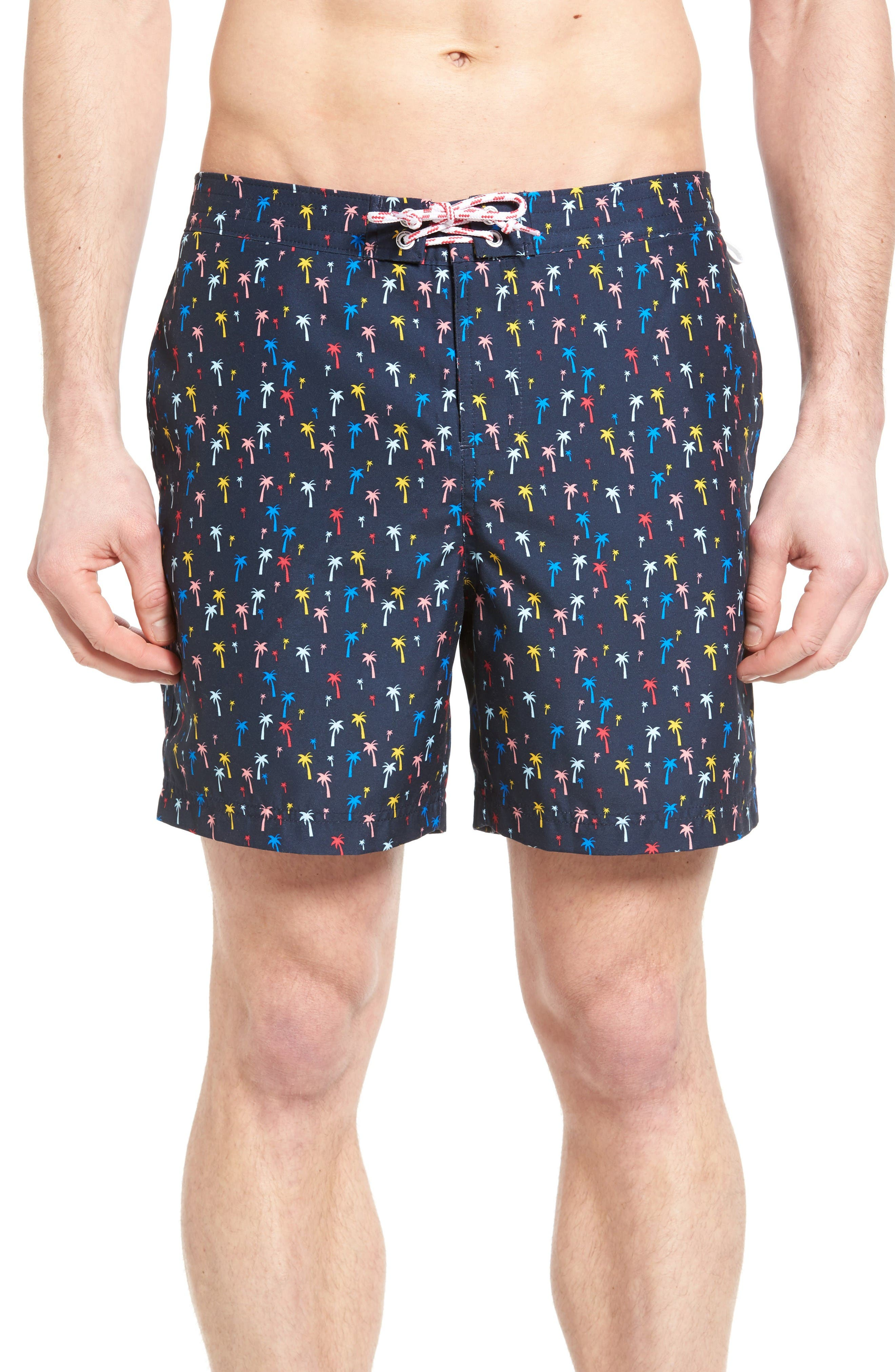 Originial Penguin Confetti Palm Tree Volley Swim Trunks