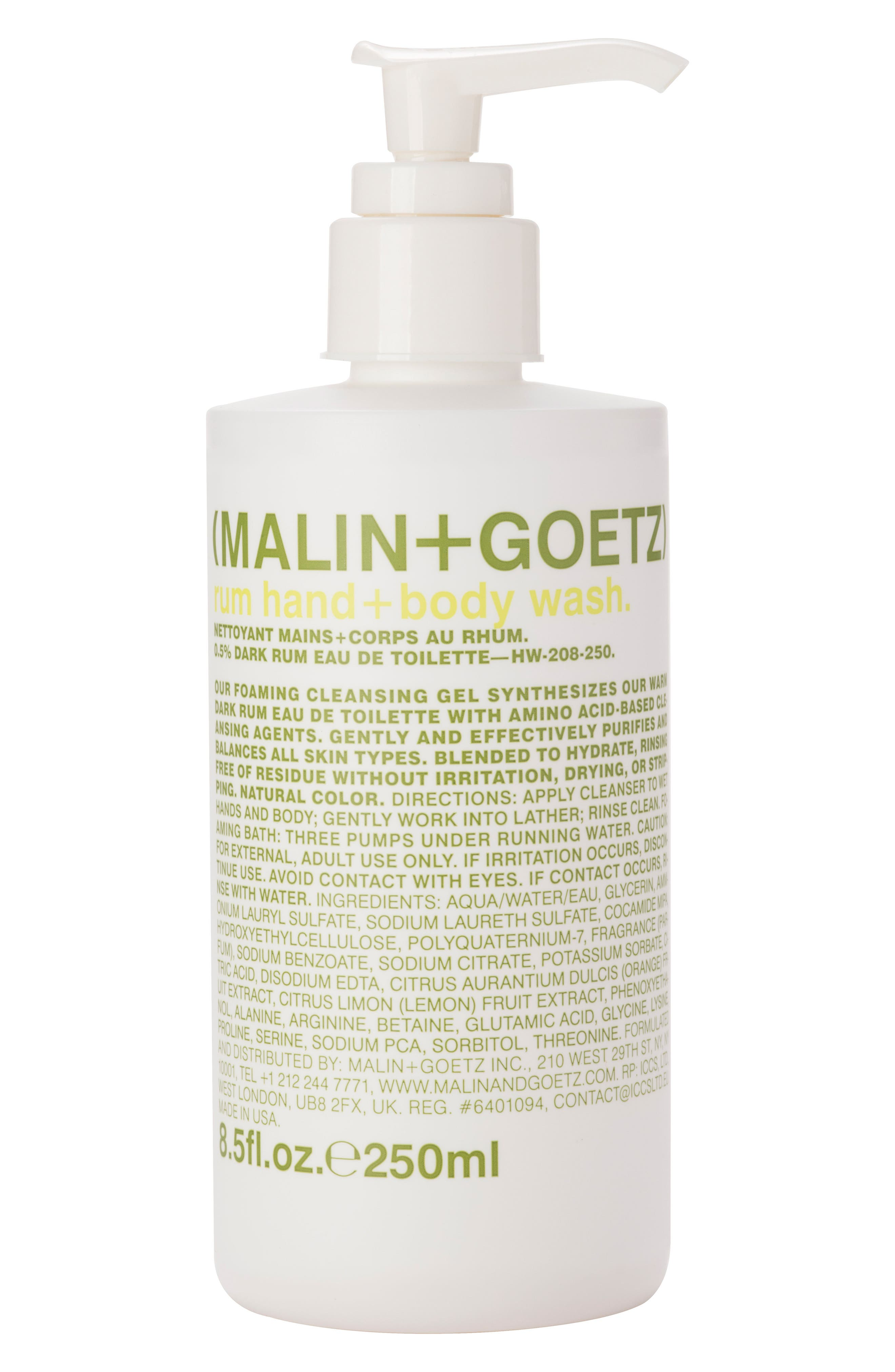 SPACE.NK.apothecary Malin + Goetz Rum Hand & Body Wash with Pump