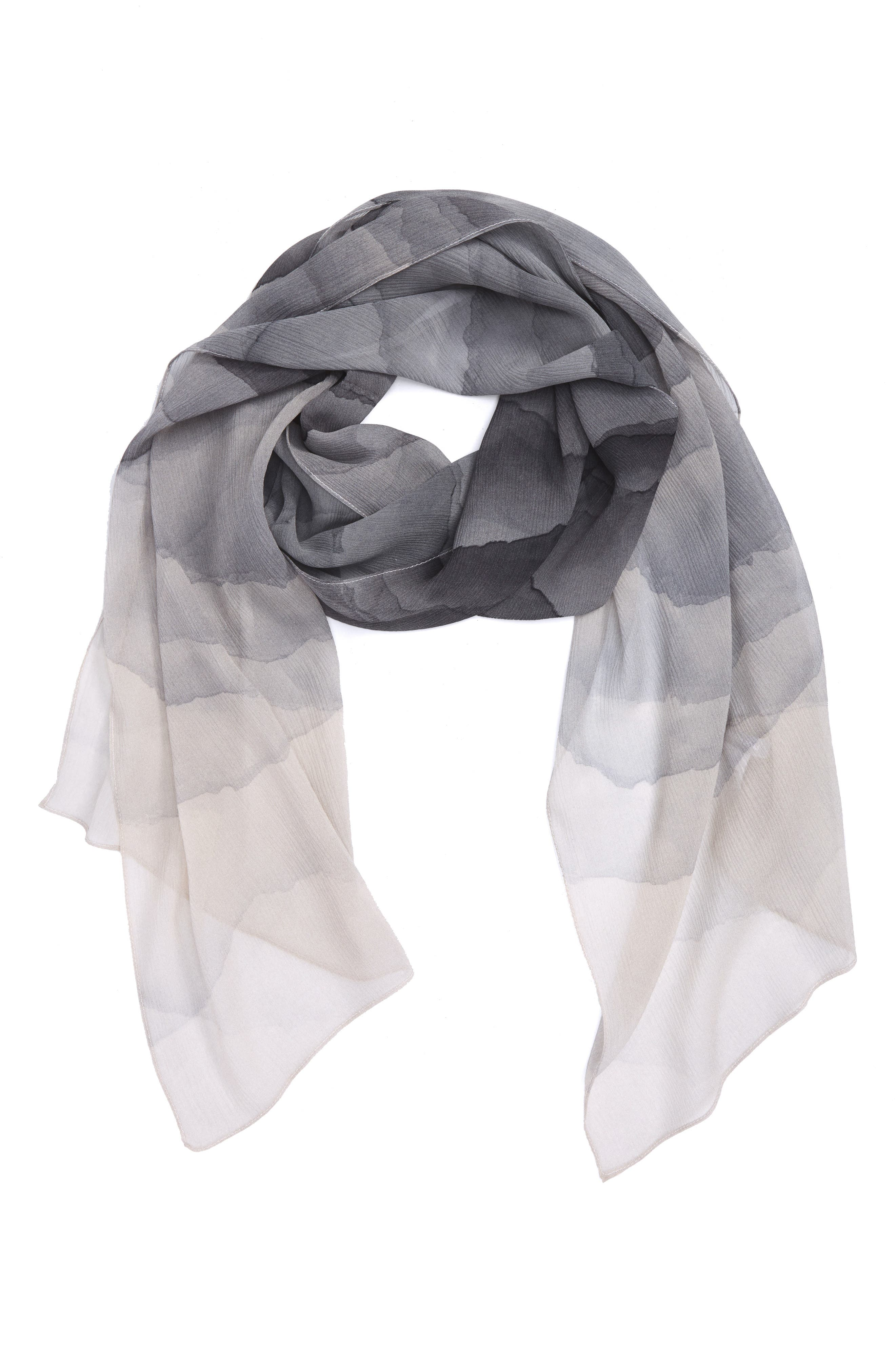 Alternate Image 1 Selected - Nordstrom Prismatic Color Play Oblong Silk Scarf