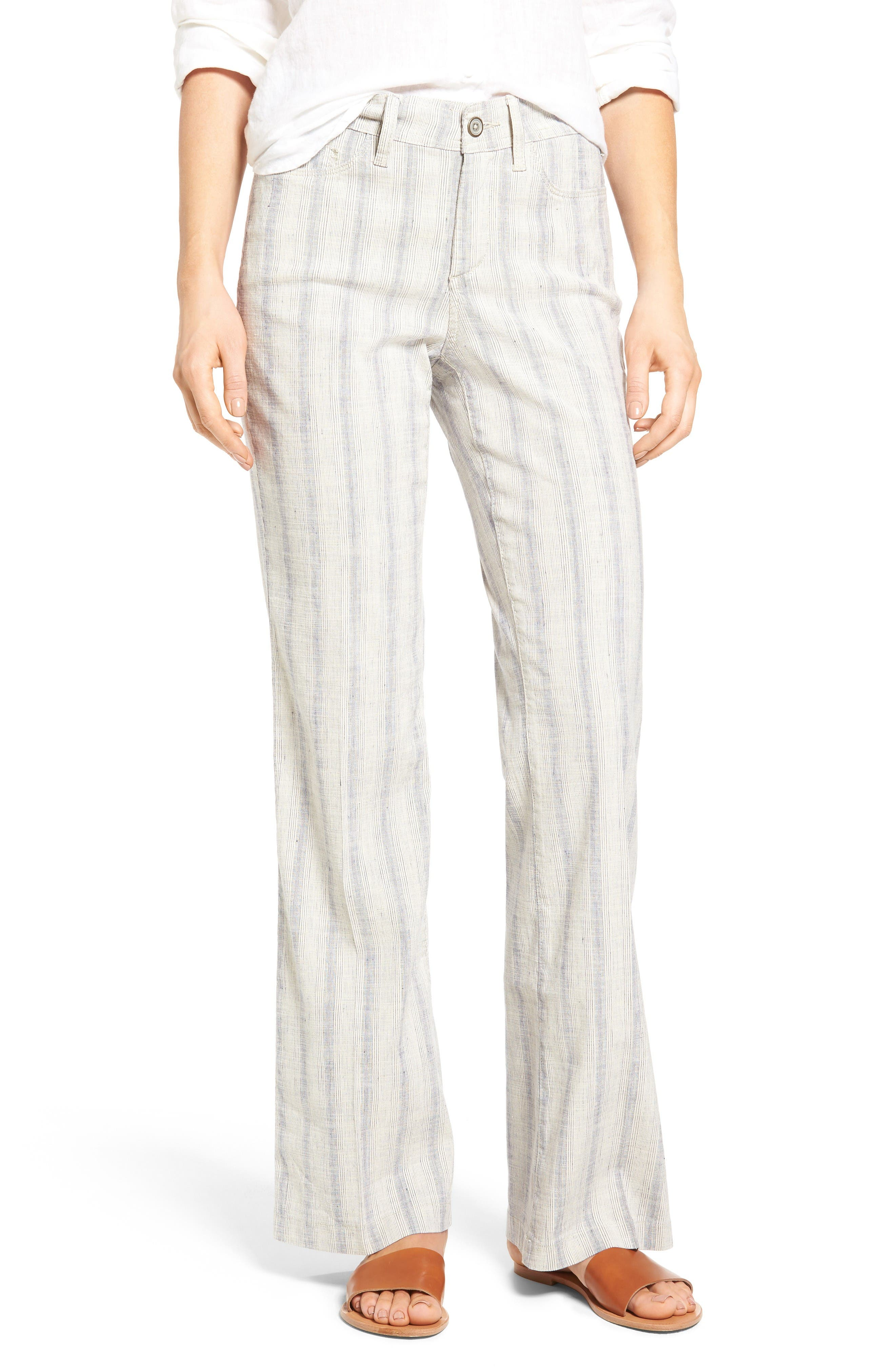 Alternate Image 1 Selected - NYDJ Wylie Five-Pocket Linen Trousers (Regular & Petite)