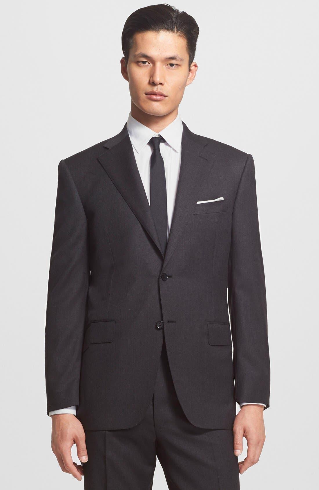 Alternate Image 3  - Canali Trim Fit Wool Suit
