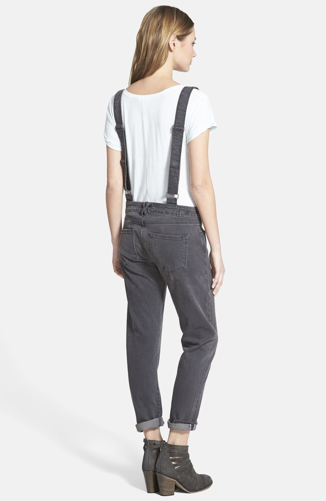 Alternate Image 2  - Paige Denim 'Phillipa' Boyfriend Jeans with Suspenders (Rudy)