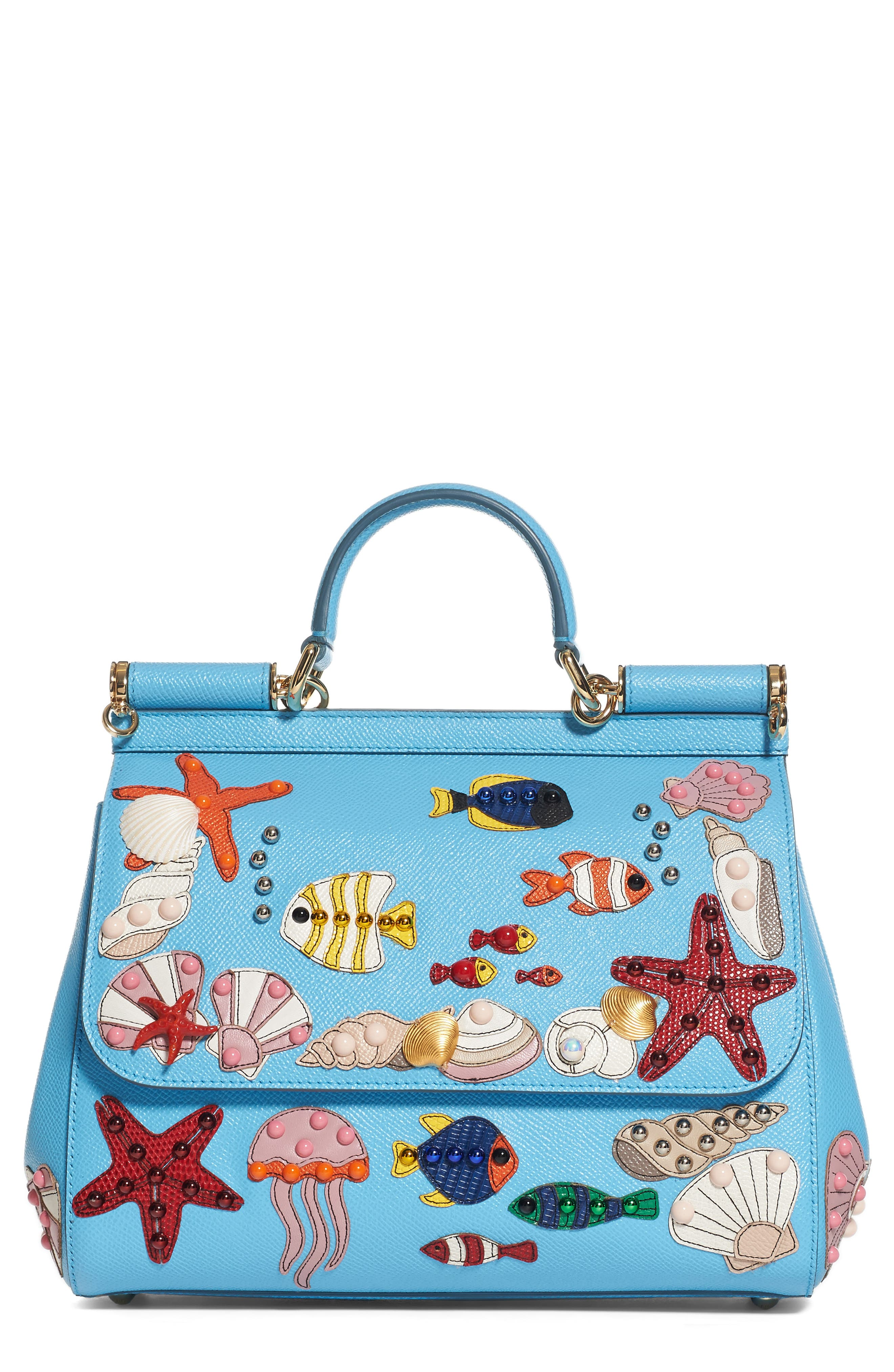 Alternate Image 1 Selected - Dolce&Gabbana Medium Miss Sicily Leather Satchel