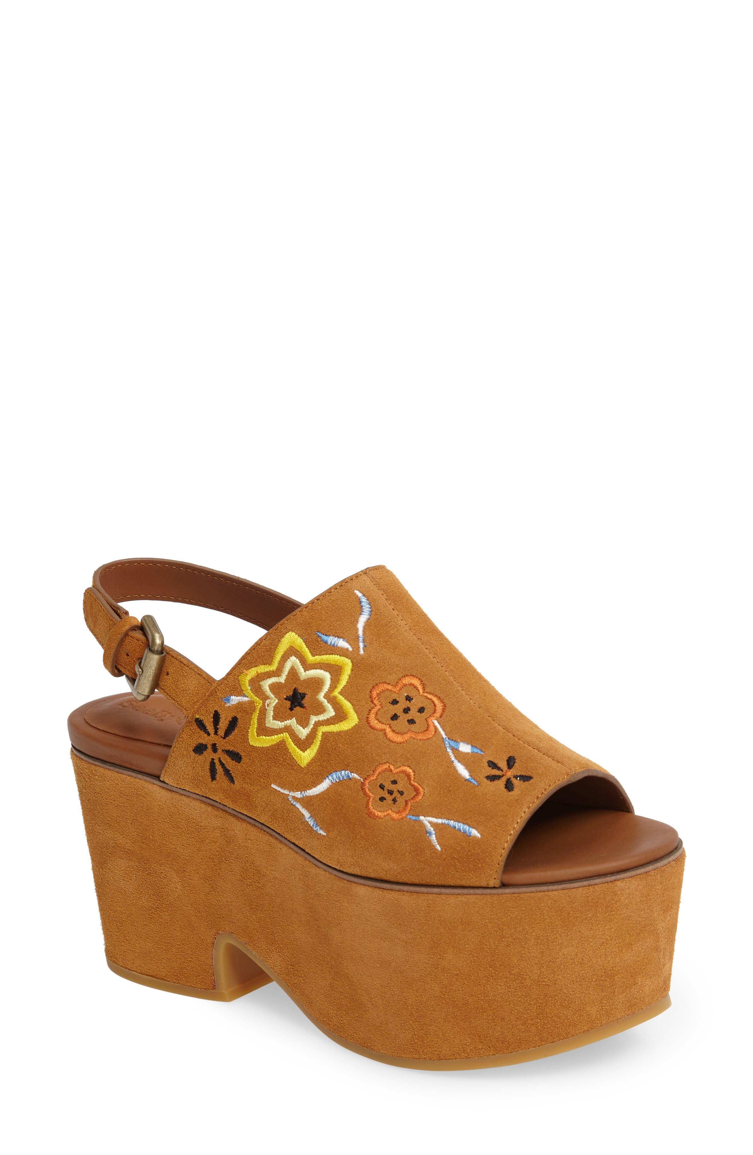 Alternate Image 1 Selected - See by Chloé Dakota Platform Sandal (Women)