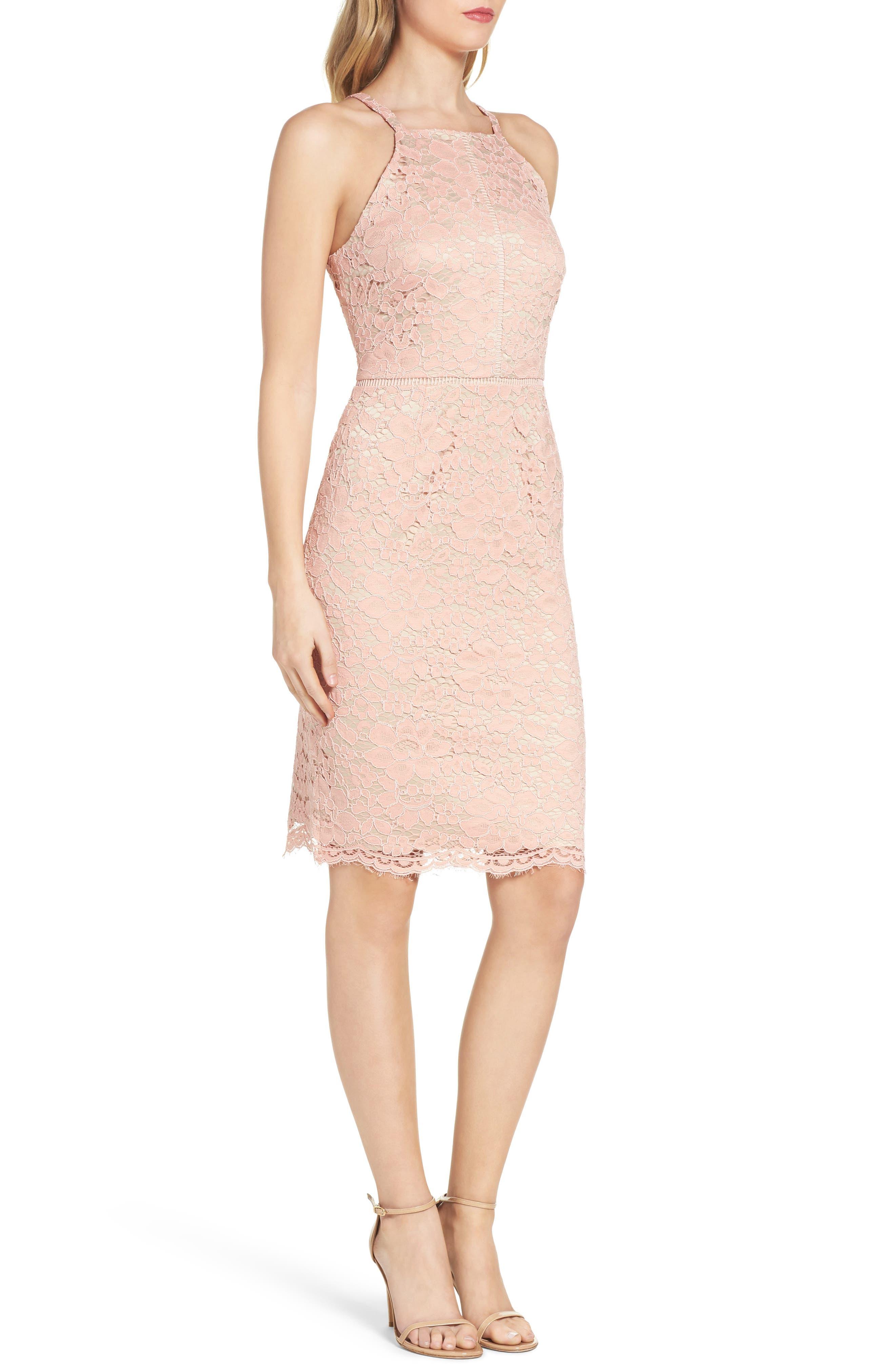 Alternate Image 3  - Vince Camuto Lace Sheath Dress