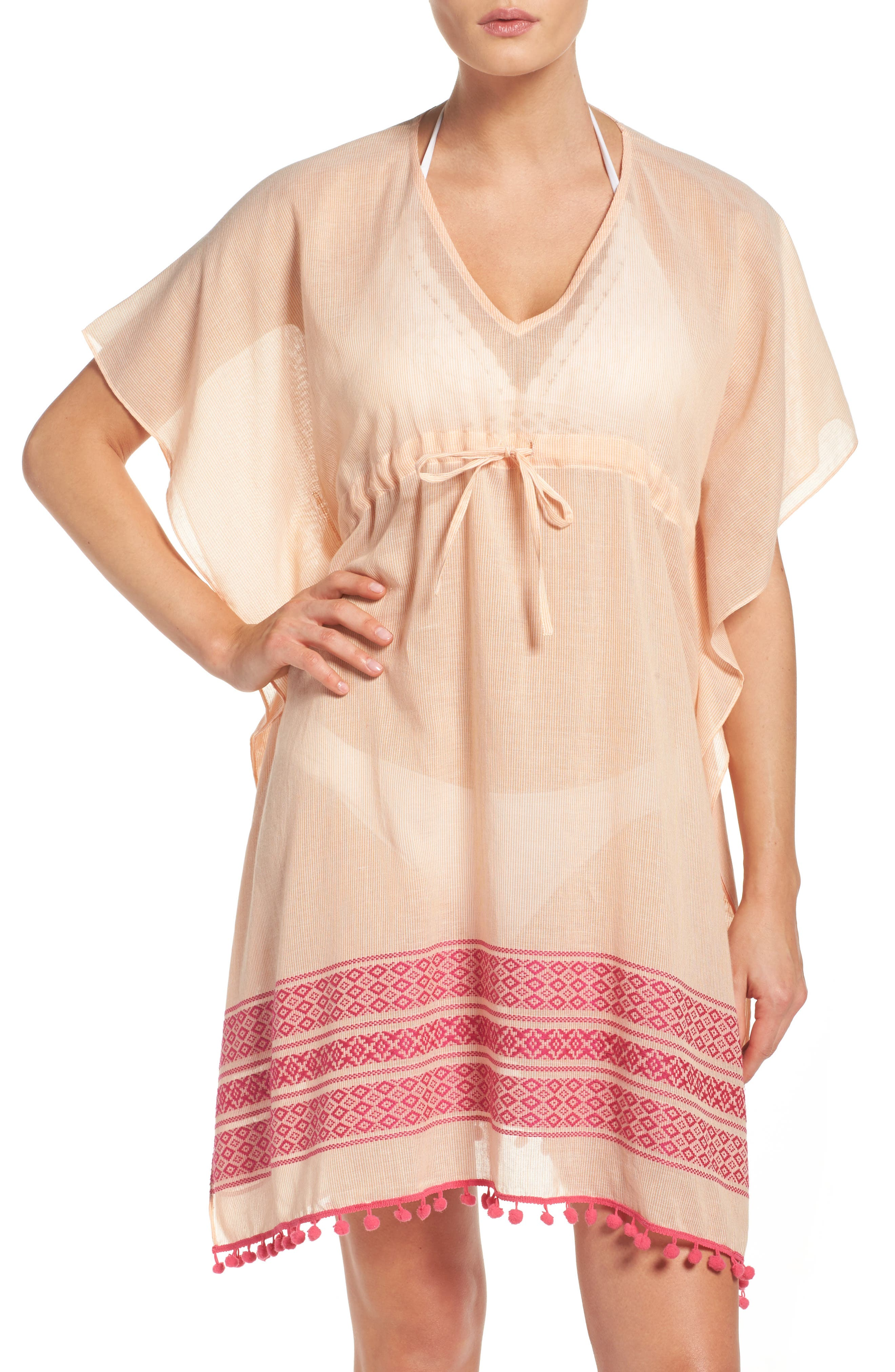 Echo Pom Cover-Up Caftan