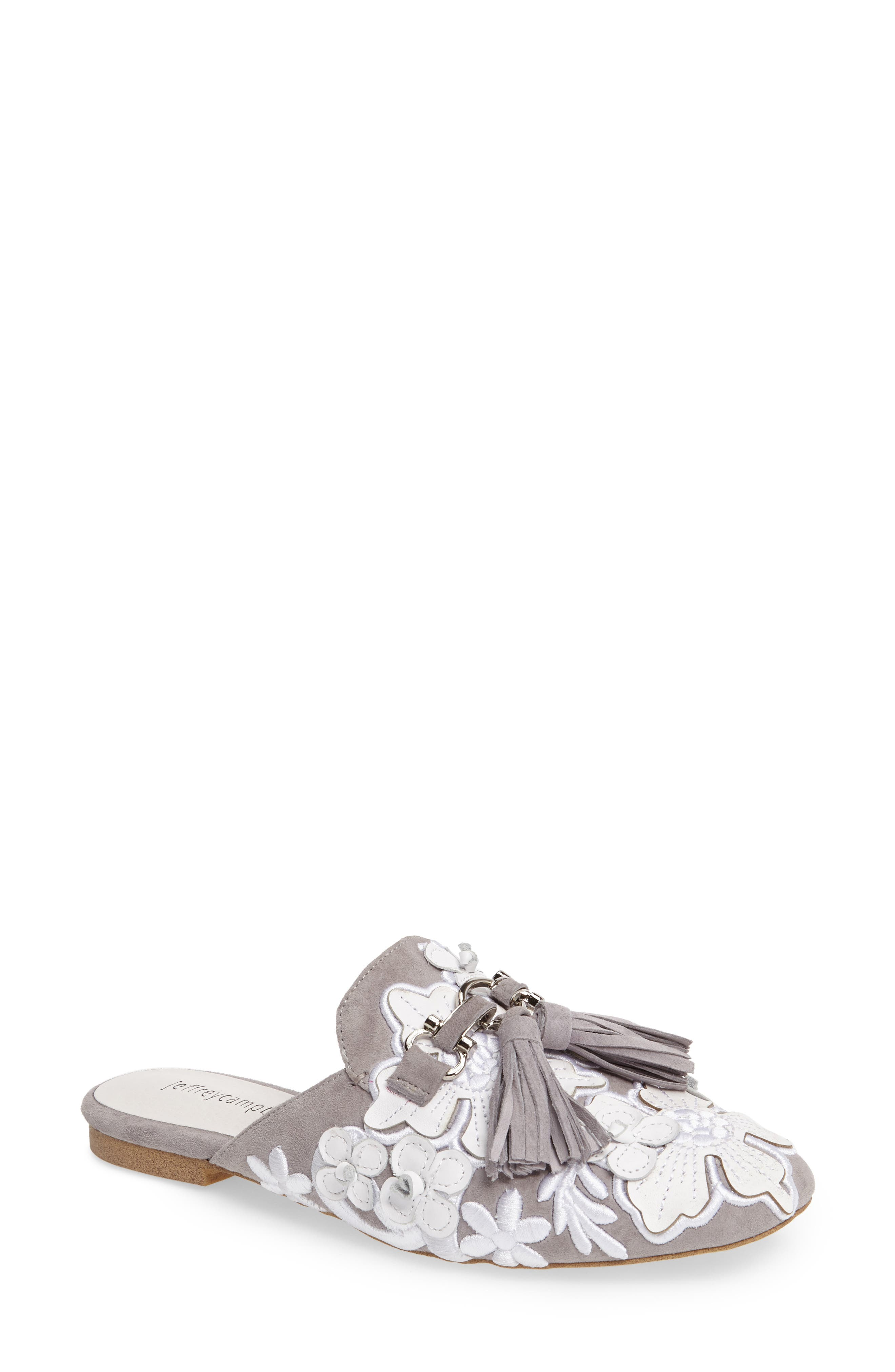Alternate Image 1 Selected - Jeffrey Campbell Ravis Flowered Loafer Mule (Women)