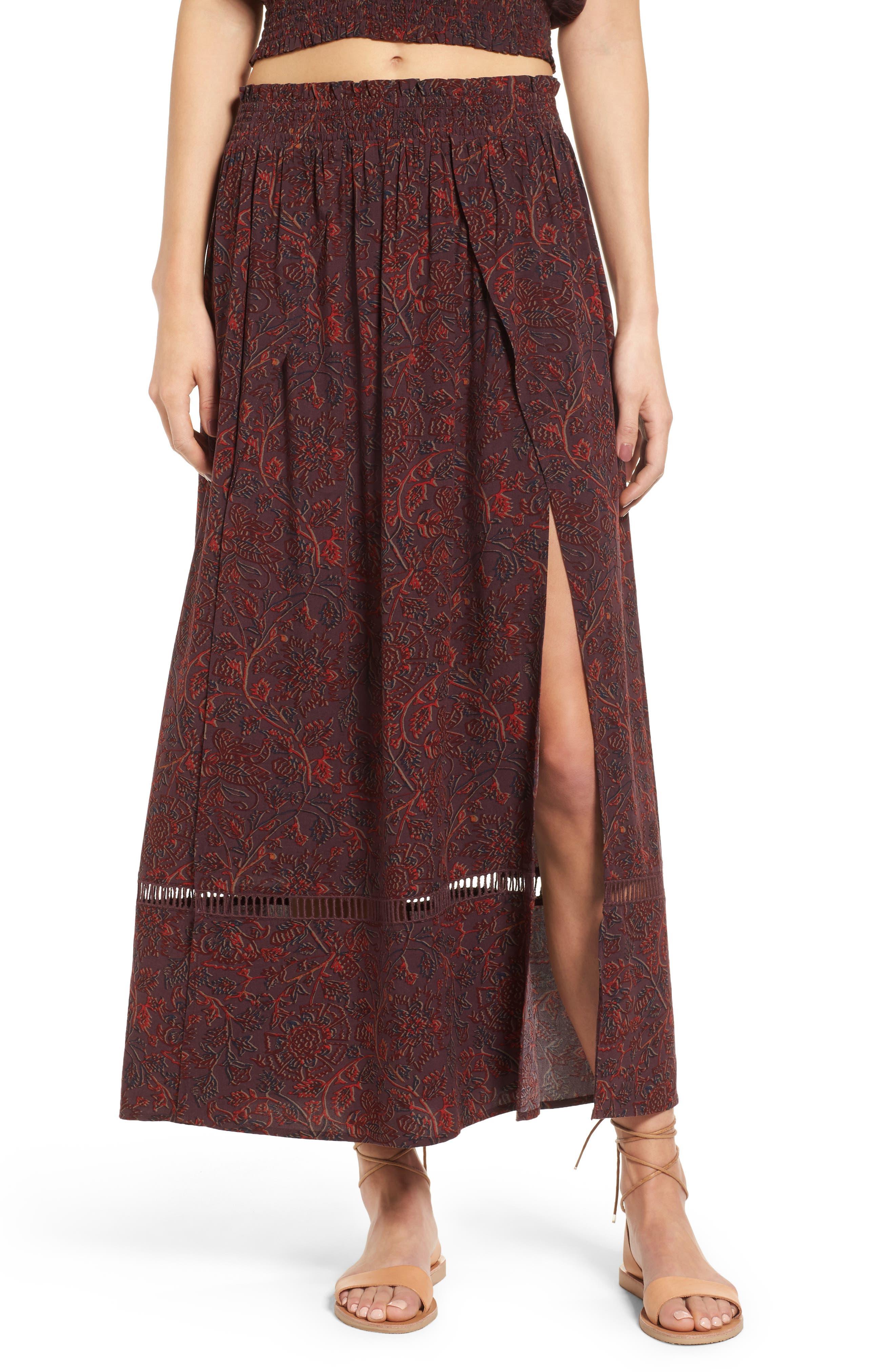 Sun & Shadow Boho Midi Skirt