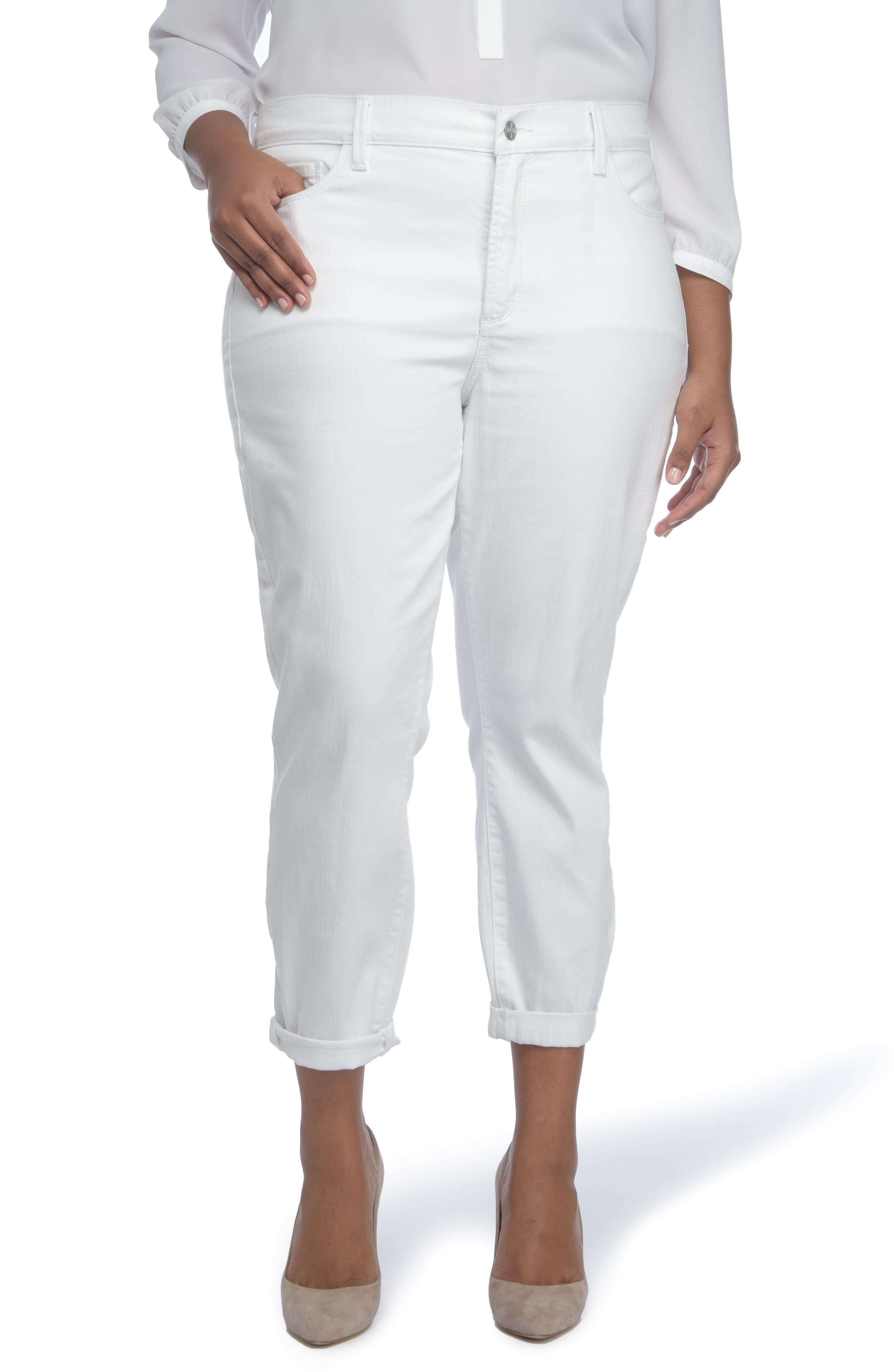NYDJ Alex Roll Cuff Ankle Pants (Plus Size)