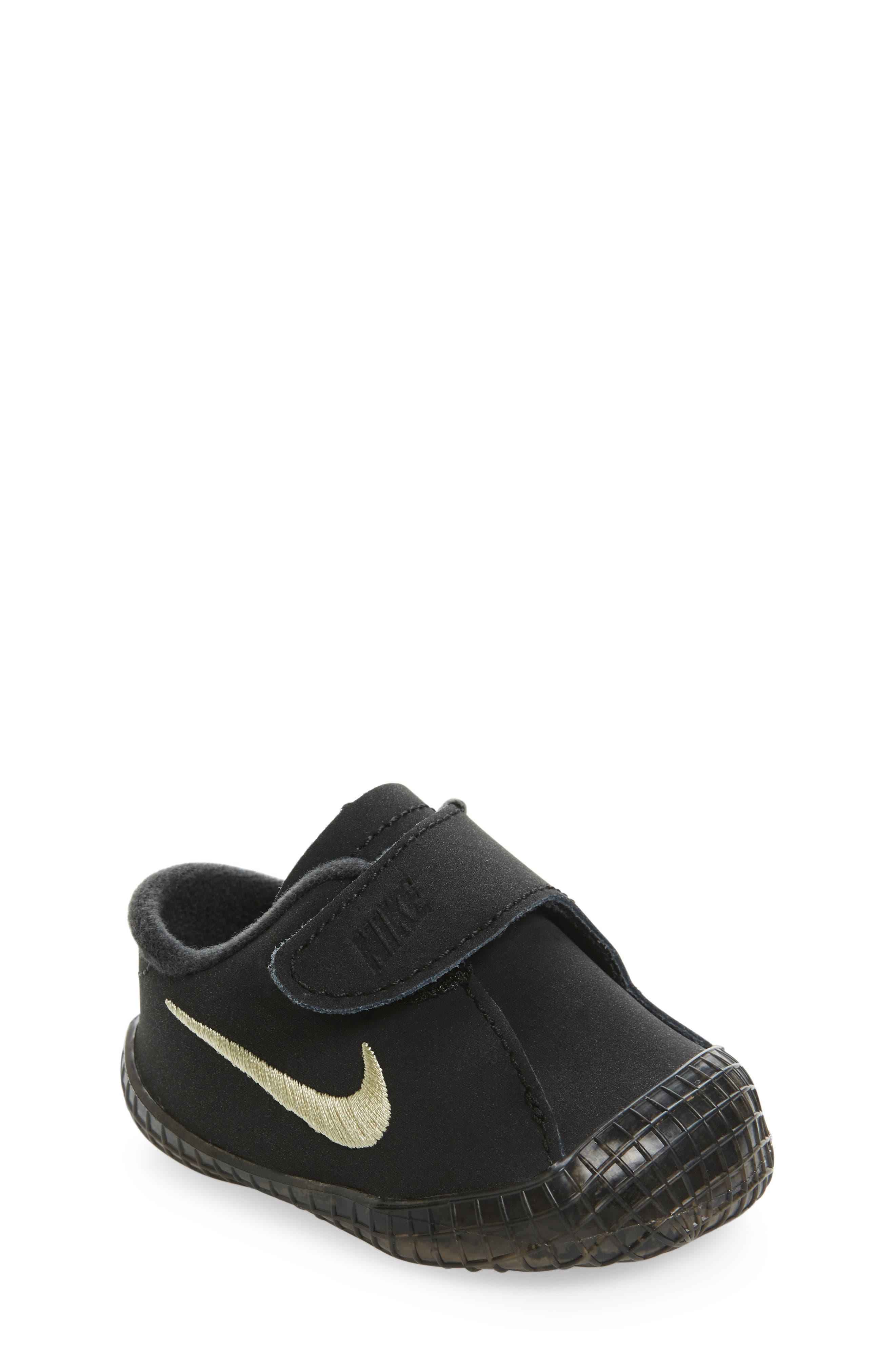 Nike 'Waffle 1' Suede Crib Shoe (Baby)