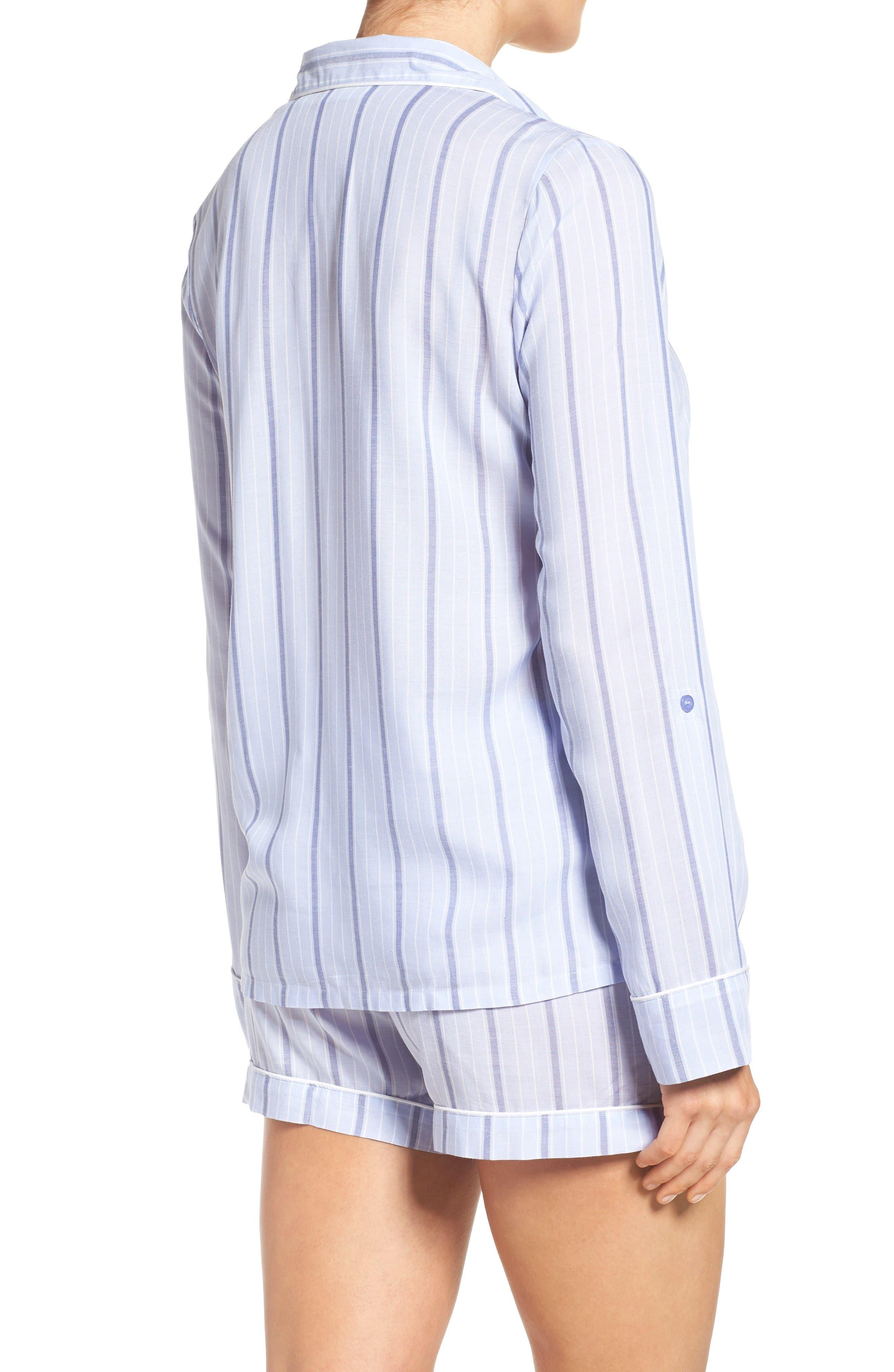 Alternate Image 2  - Nordstrom Lingerie Stripe Short Pajamas