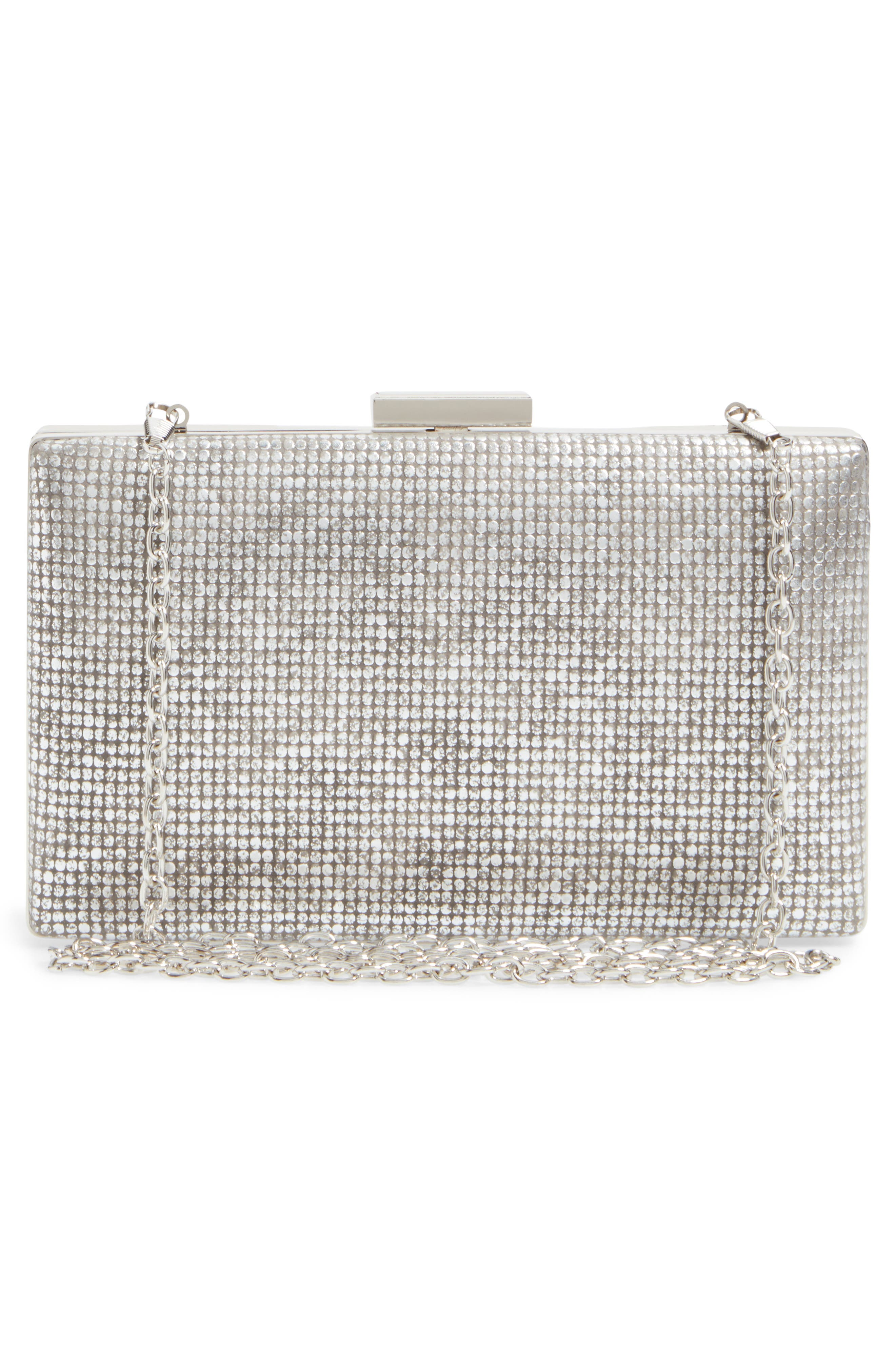 Alternate Image 3  - Sondra Roberts Embossed Metallic Box Clutch