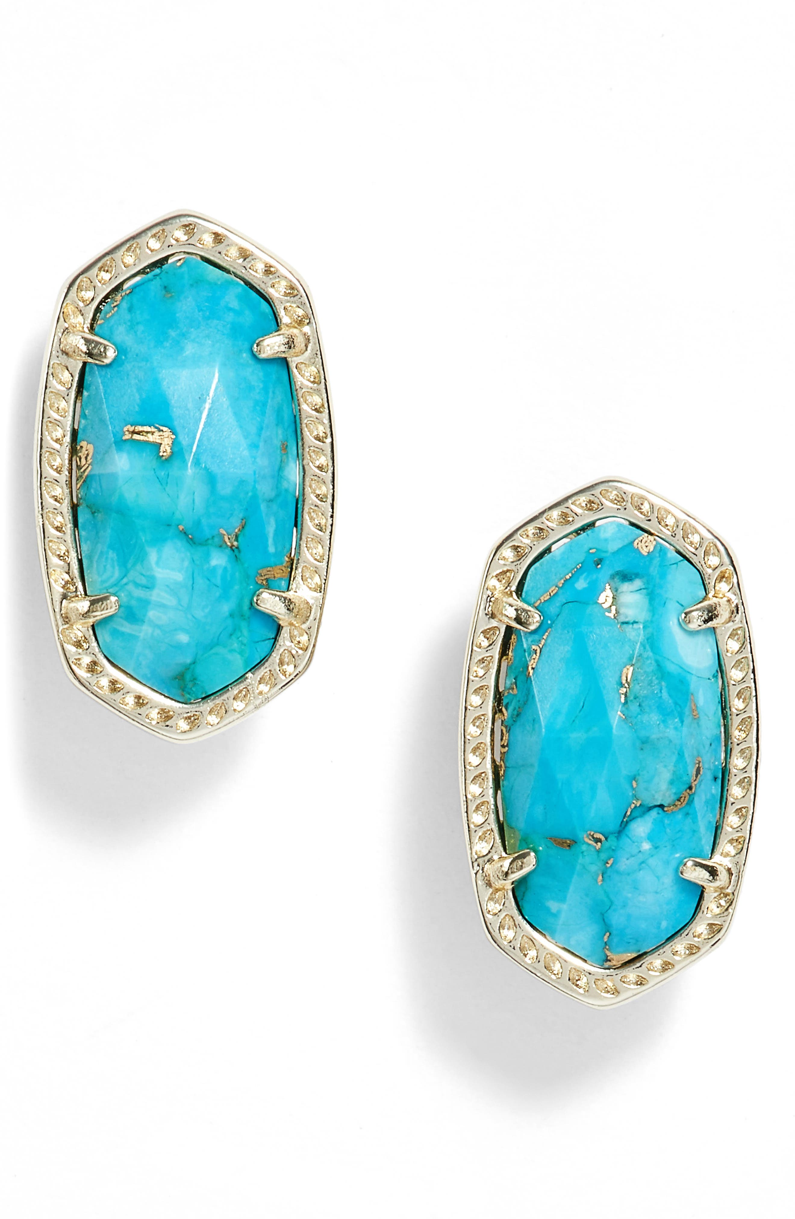 Alternate Image 1 Selected - Kendra Scott Ellie Oval Stone Stud Earrings