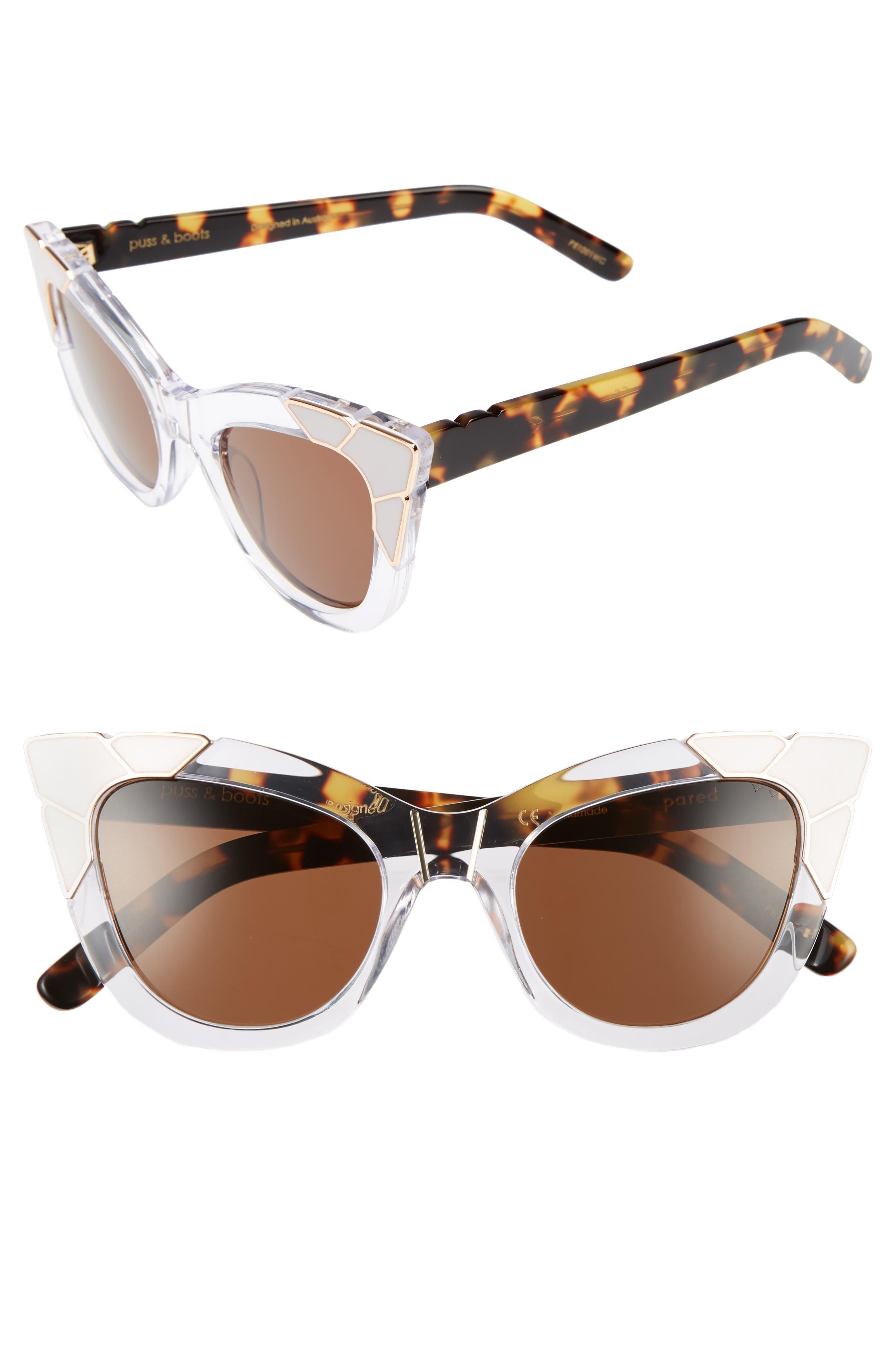 Pared Puss & Boots 49mm Cat Eye Sunglasses
