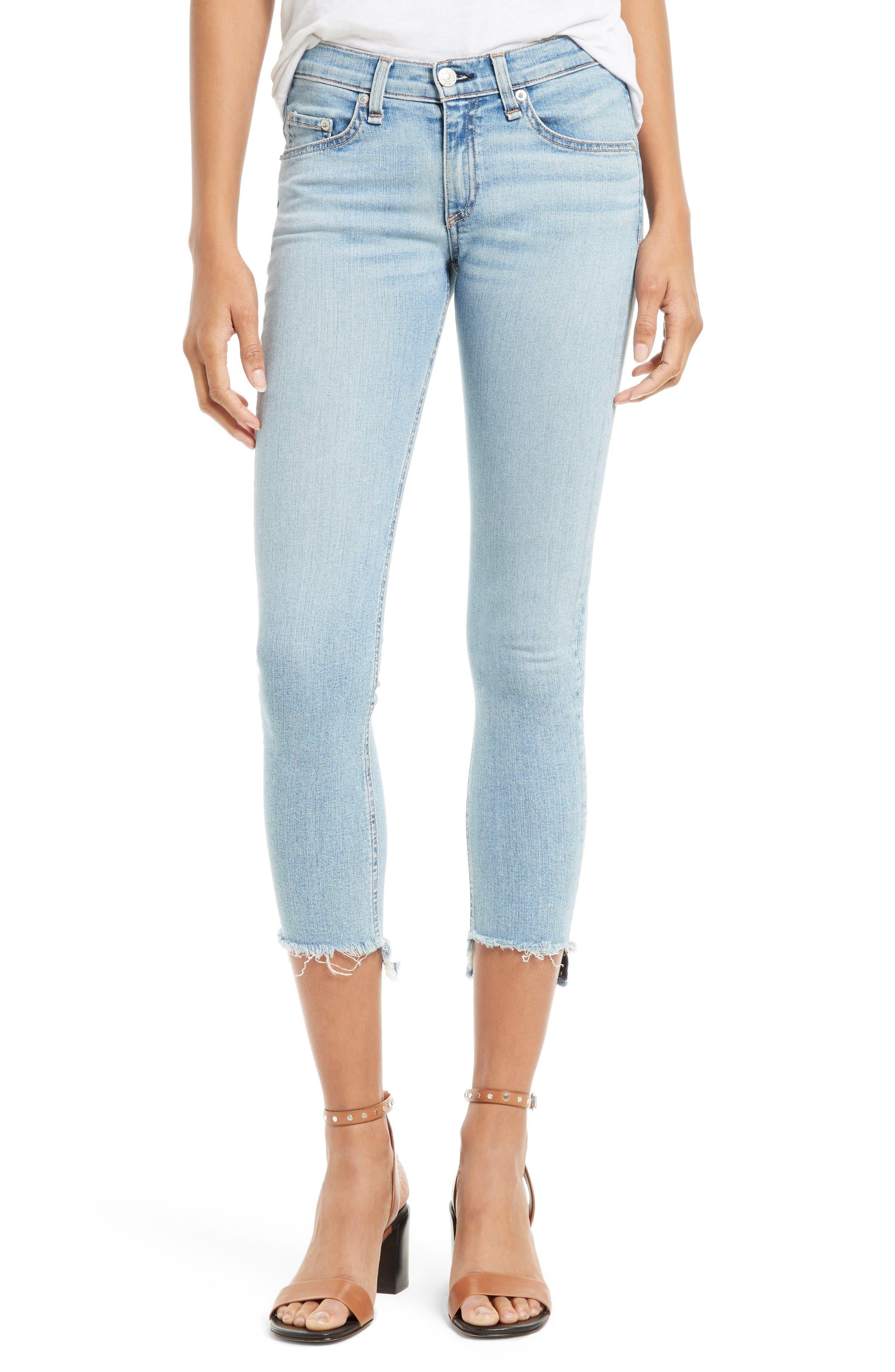 rag & bone/JEAN Capri Step Hem Skinny Jeans (Wiley)