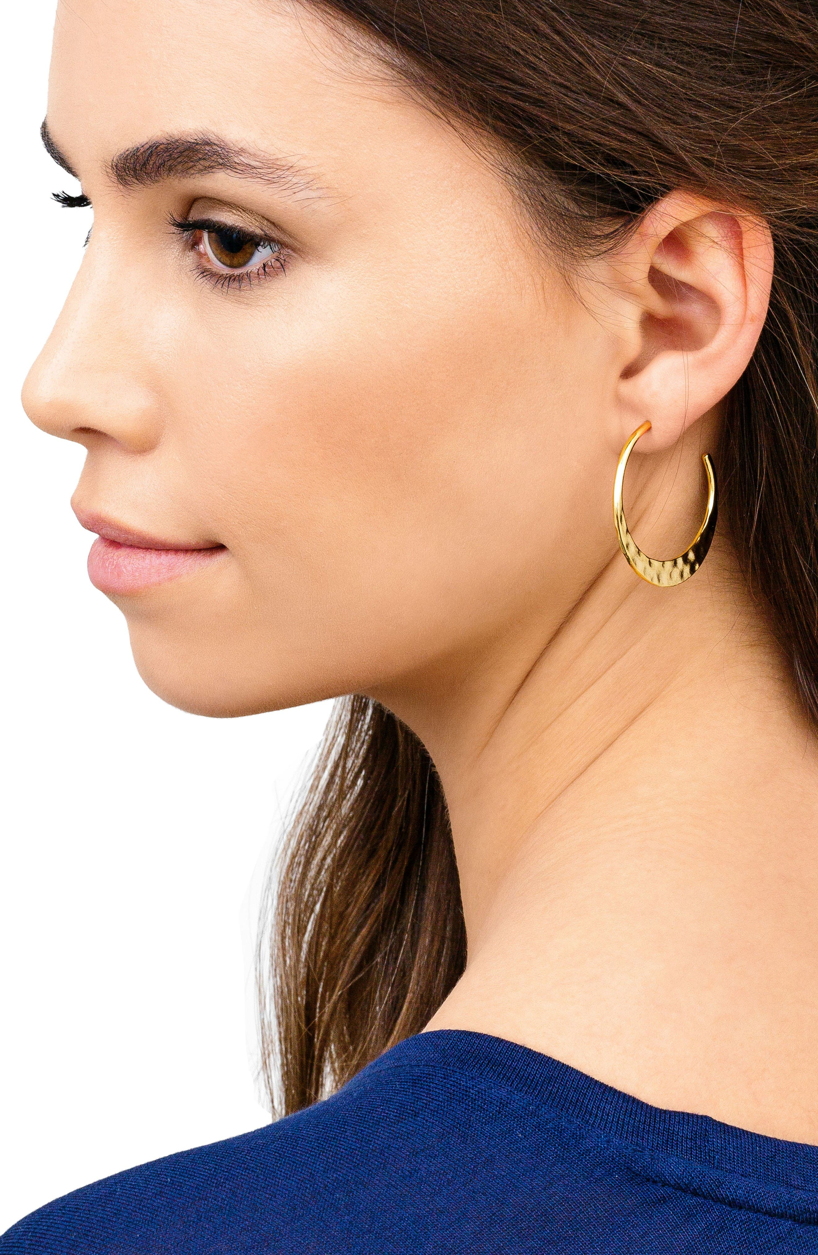Alternate Image 3  - gorjana Silas Hammered Hoop Earrings