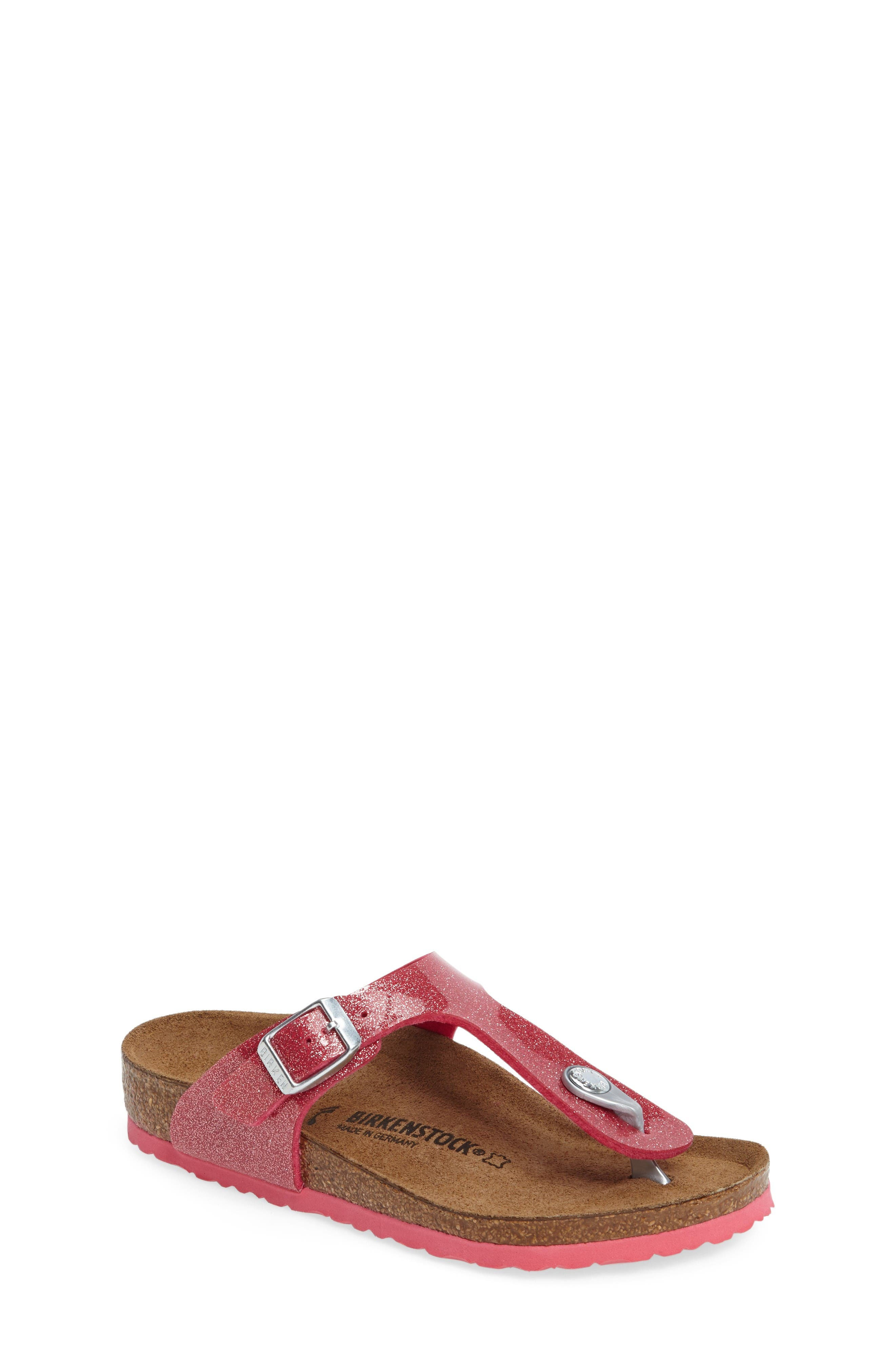 Birkenstock 'Gizeh Galaxy Birko-Flor' Thong Sandal (Toddler & Little Kid)