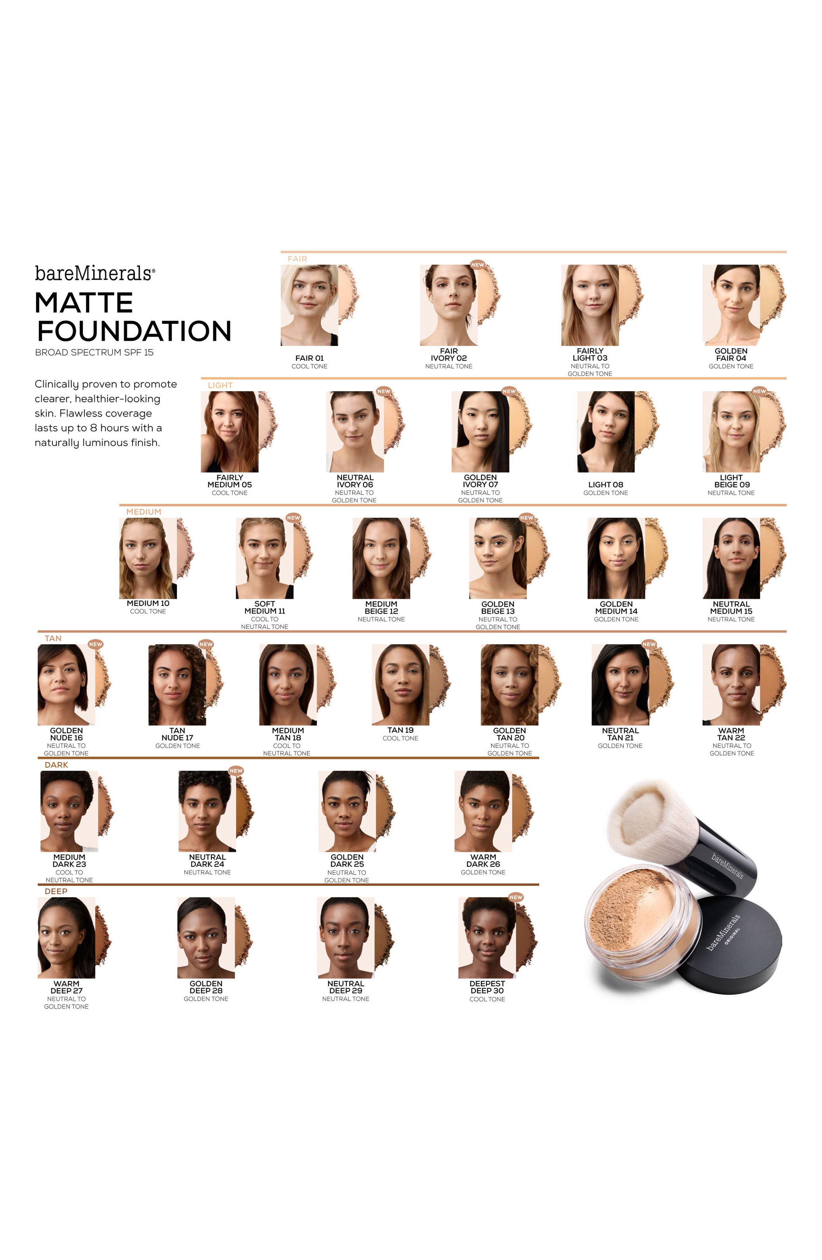Alternate Image 2  - bareMinerals® Matte Foundation SPF 15
