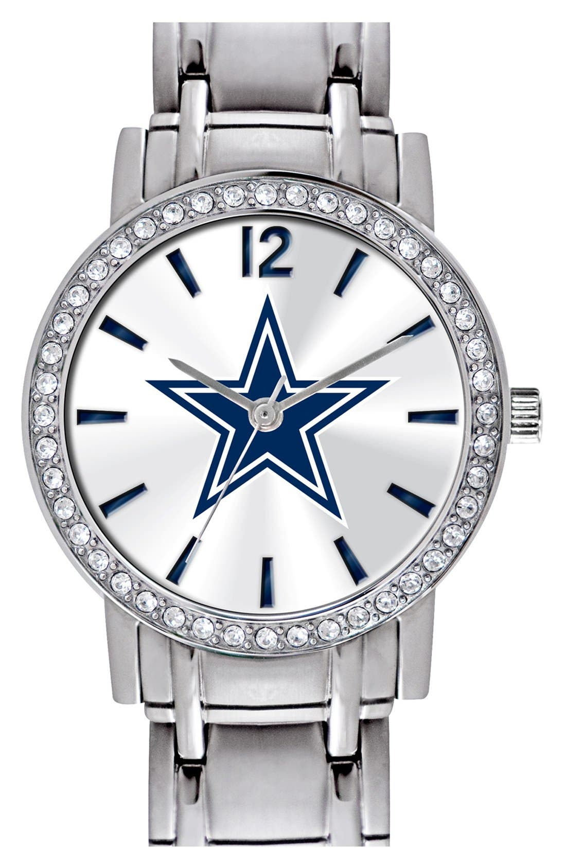 Alternate Image 1 Selected - Game Time Watches 'NFL All Star - Dallas Cowboys' Crystal Bezel Bracelet Watch, 32mm
