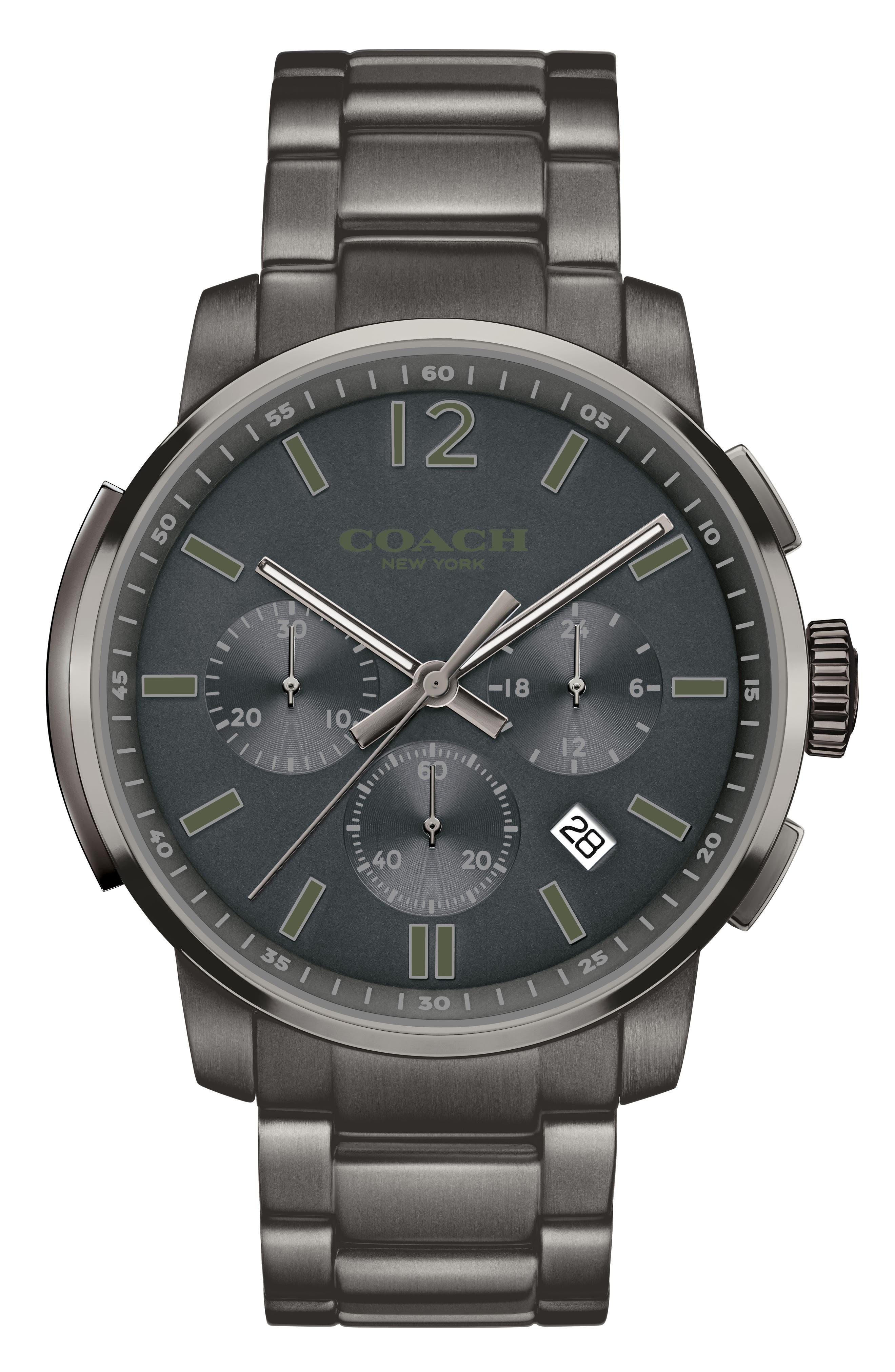 Coach 'Bleecker' Chronograph Bracelet Watch, 44mm