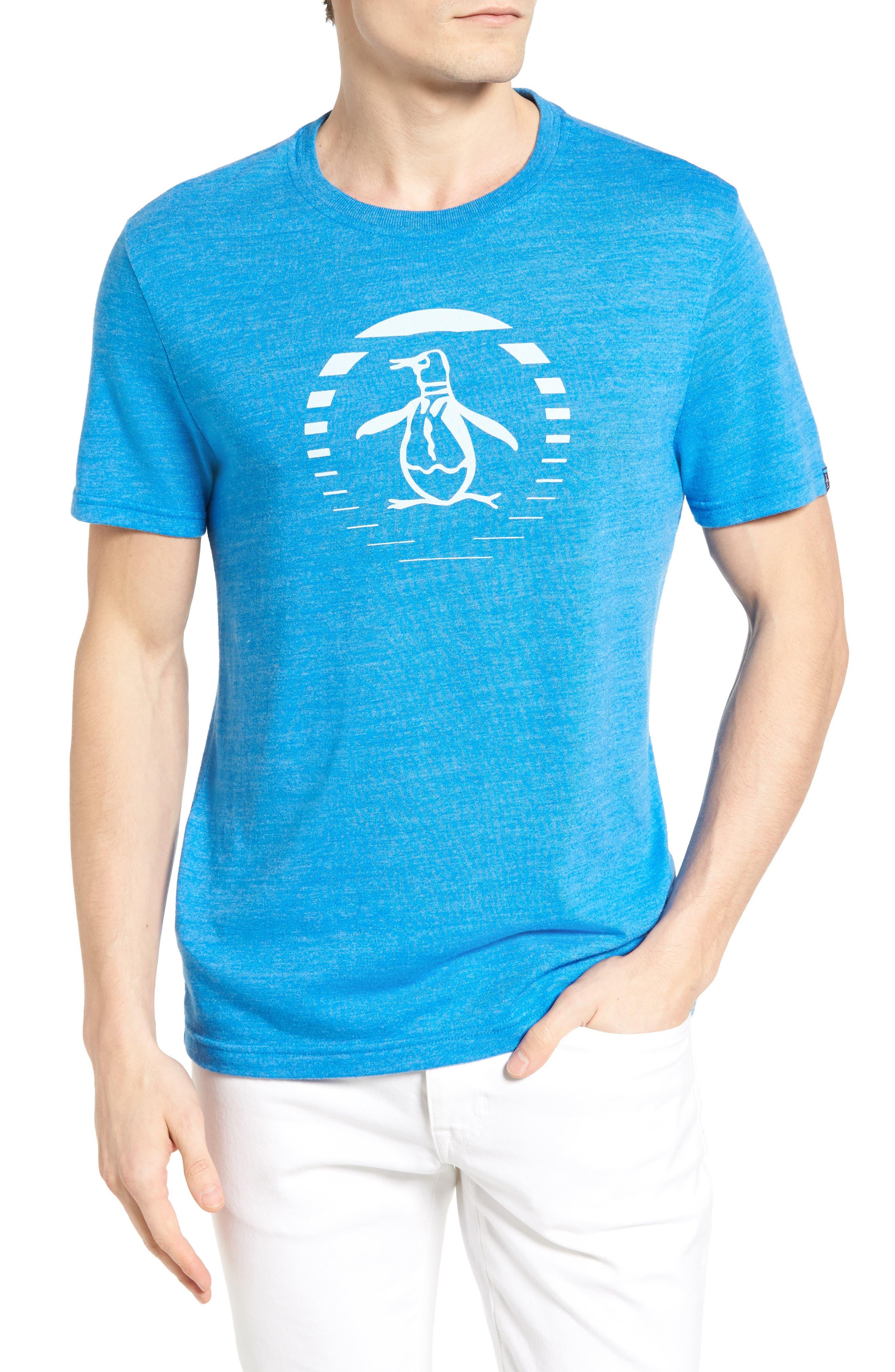 Original Penguin Ombre Stripe Circle Graphic T-Shirt