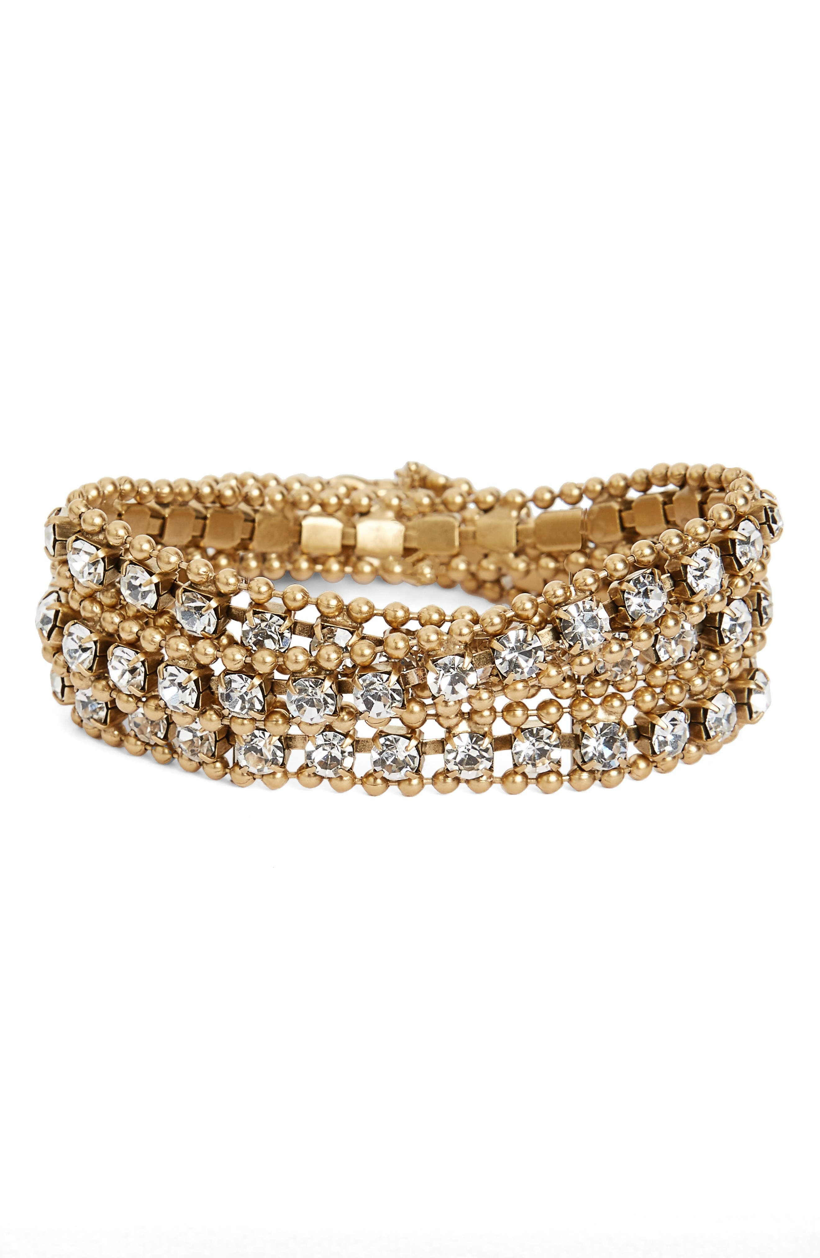 Loren Hope Glenn Crystal Wrap Bracelet