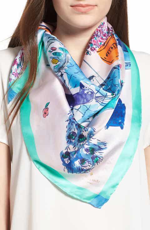 kate spade new york majorelle scene silk square scarf