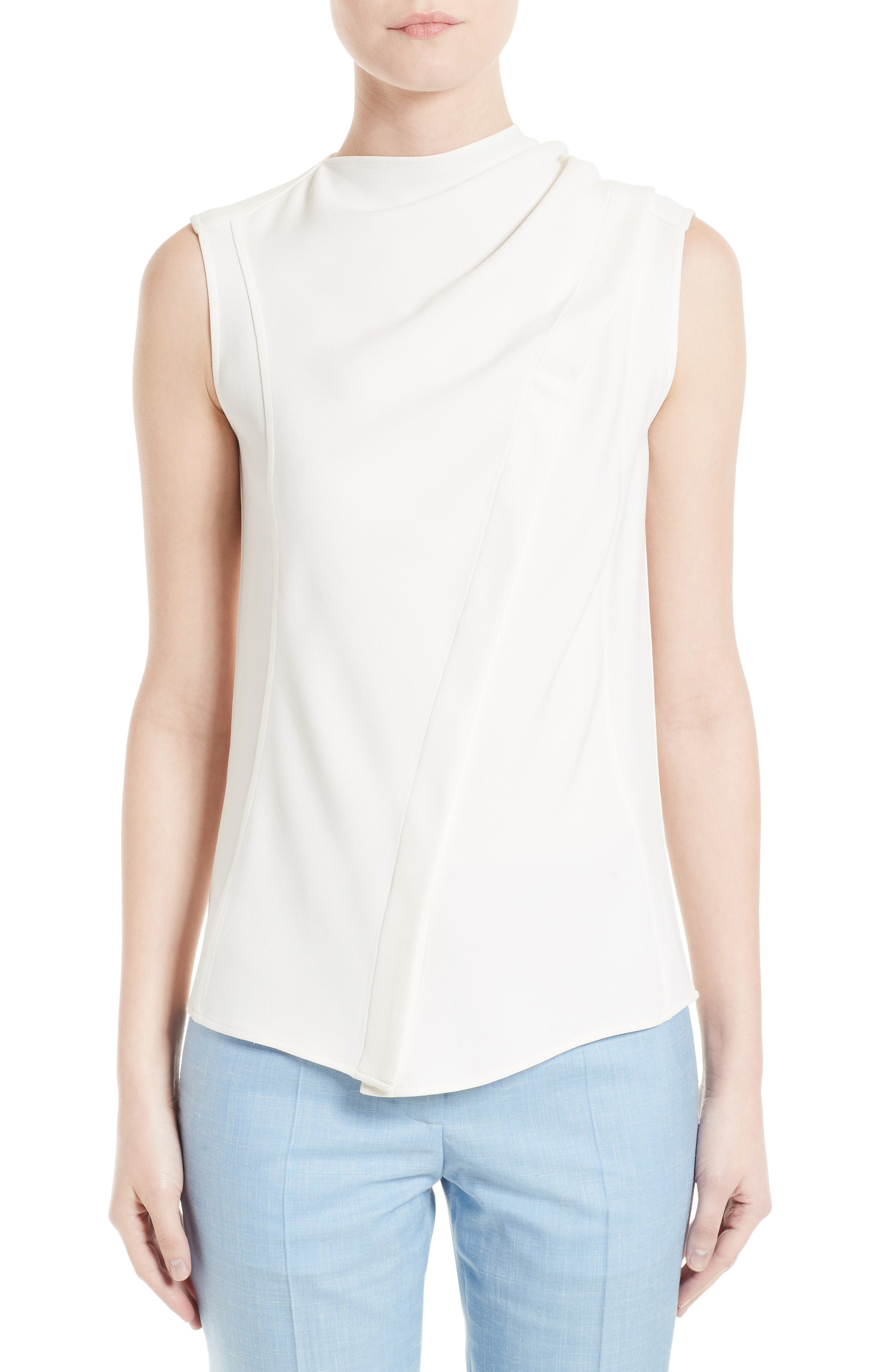 Victoria Beckham Cady Asymmetrical Blouse