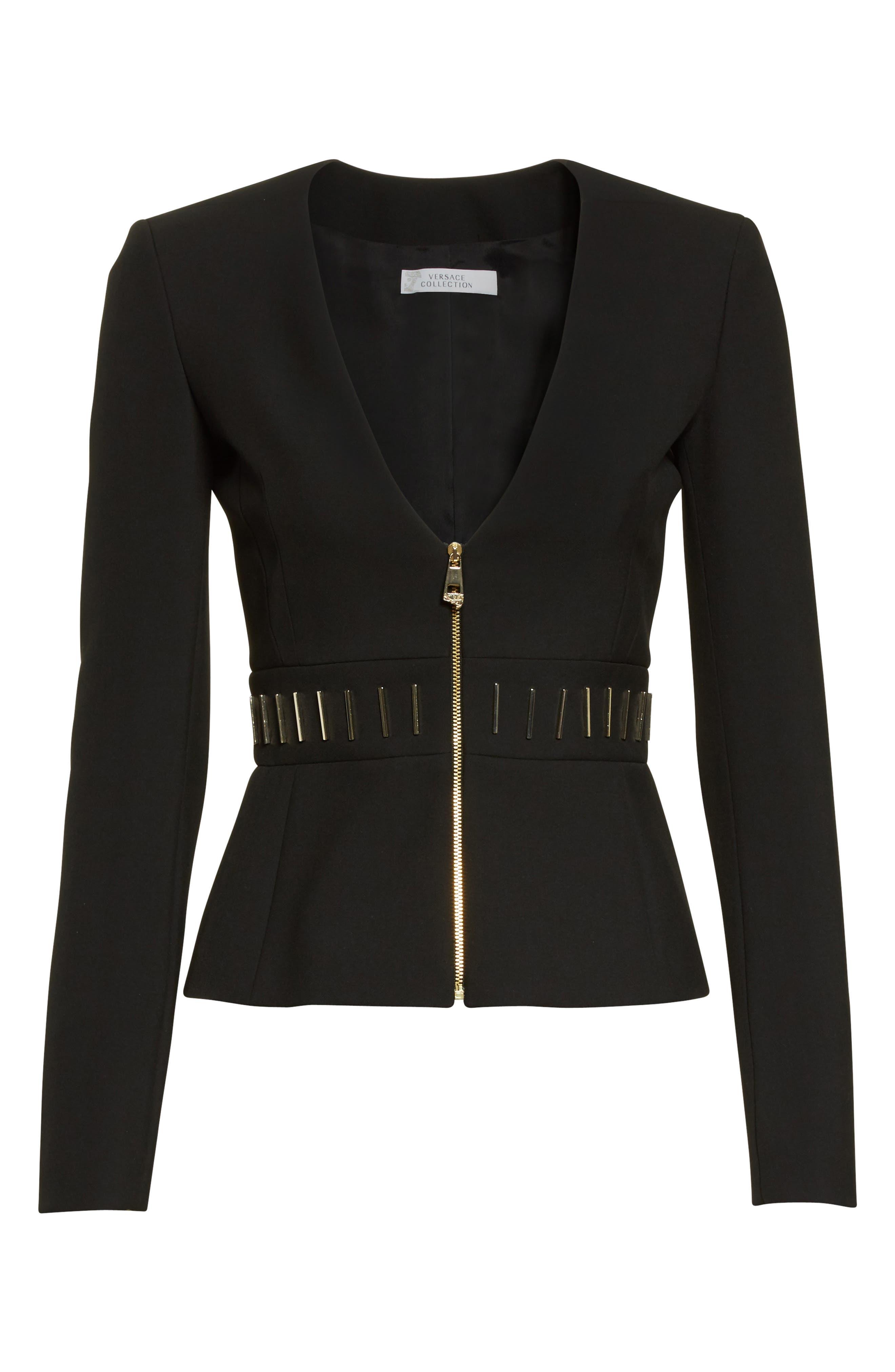 Alternate Image 4  - Versace Collection Bar Detail Cady Jacket