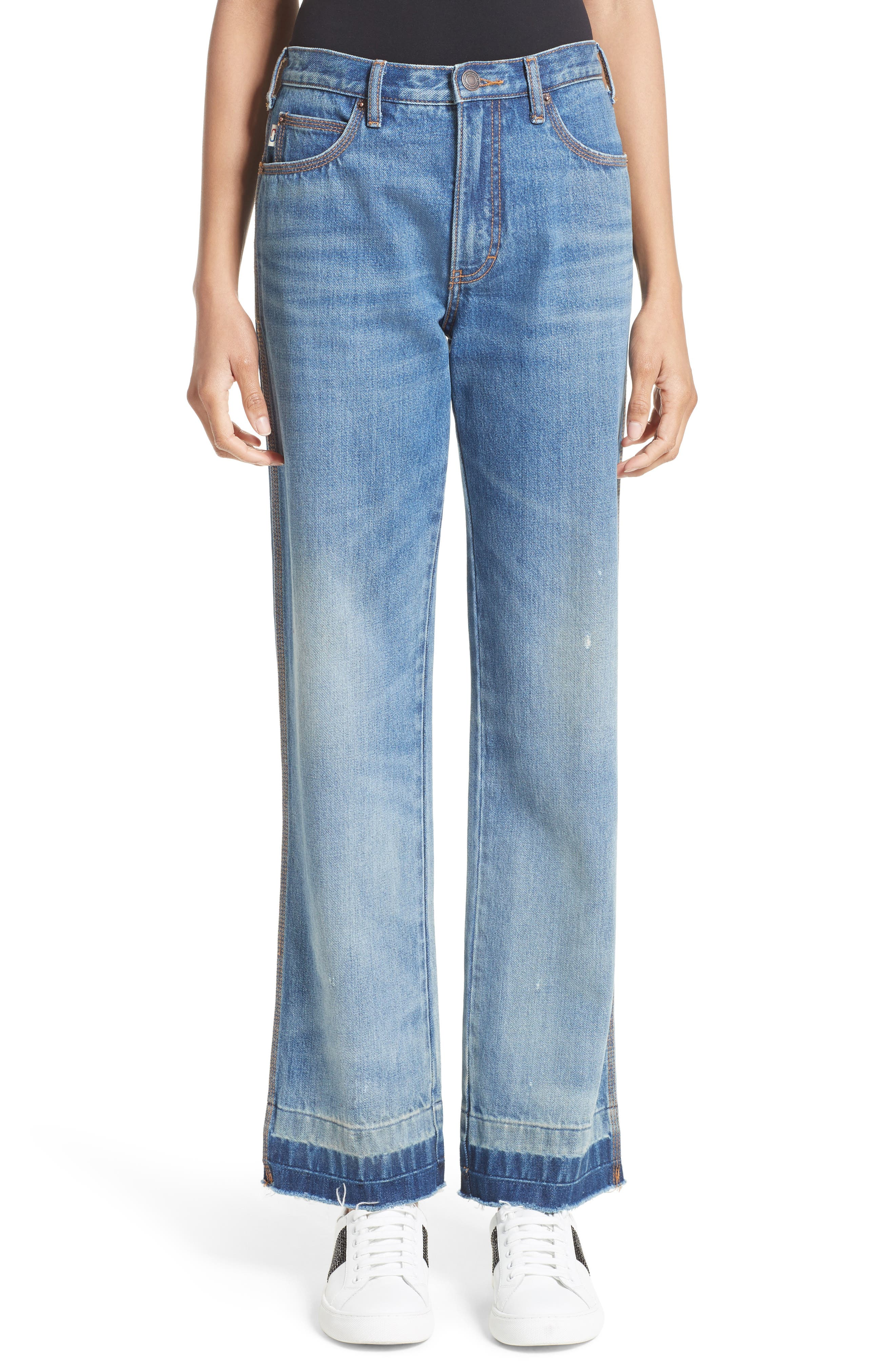MARC JACOBS Relaxed Release Hem Jeans (Vintage Indigo)