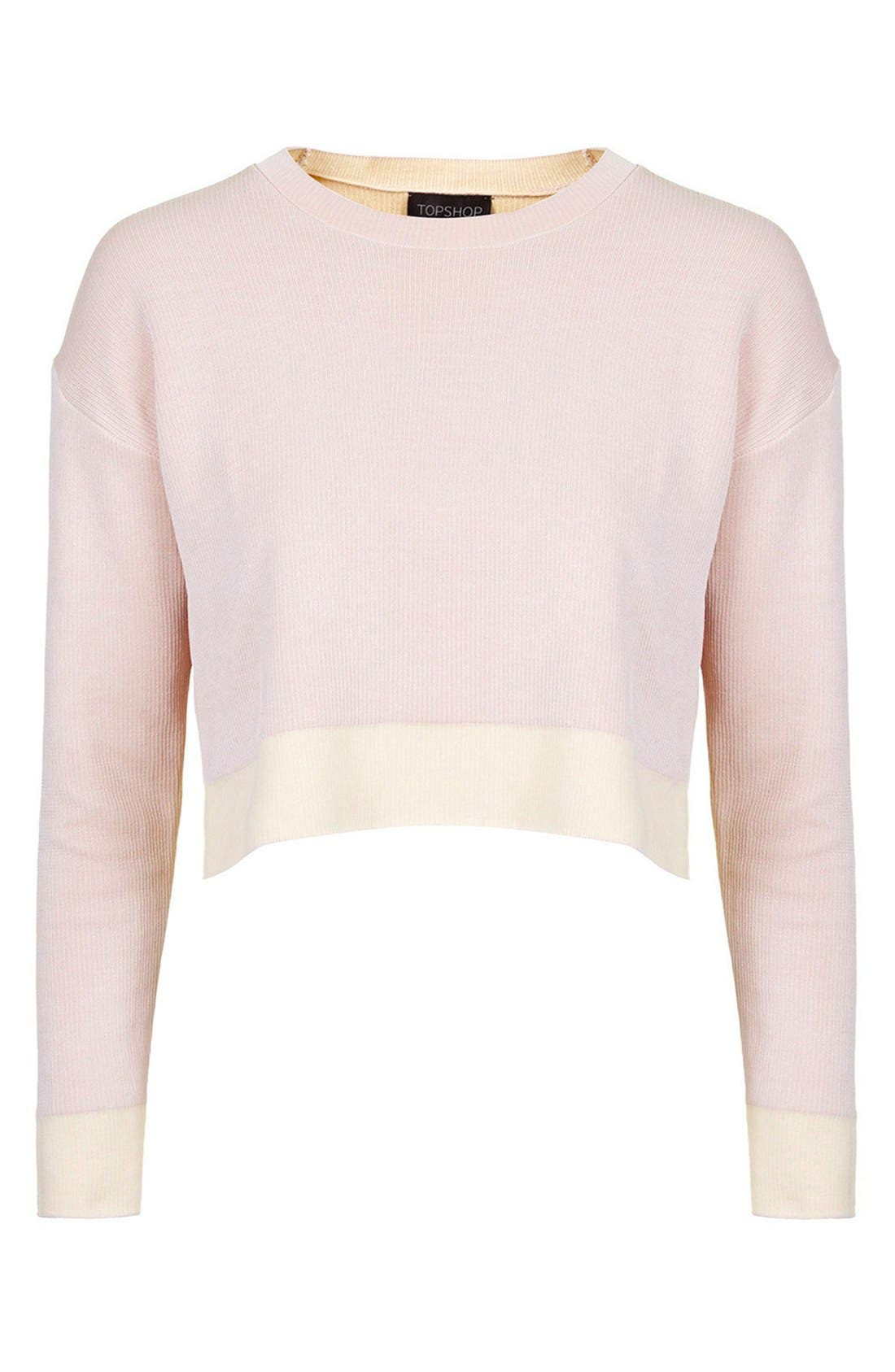 Alternate Image 3  - Topshop Ribbed Crop Sweater