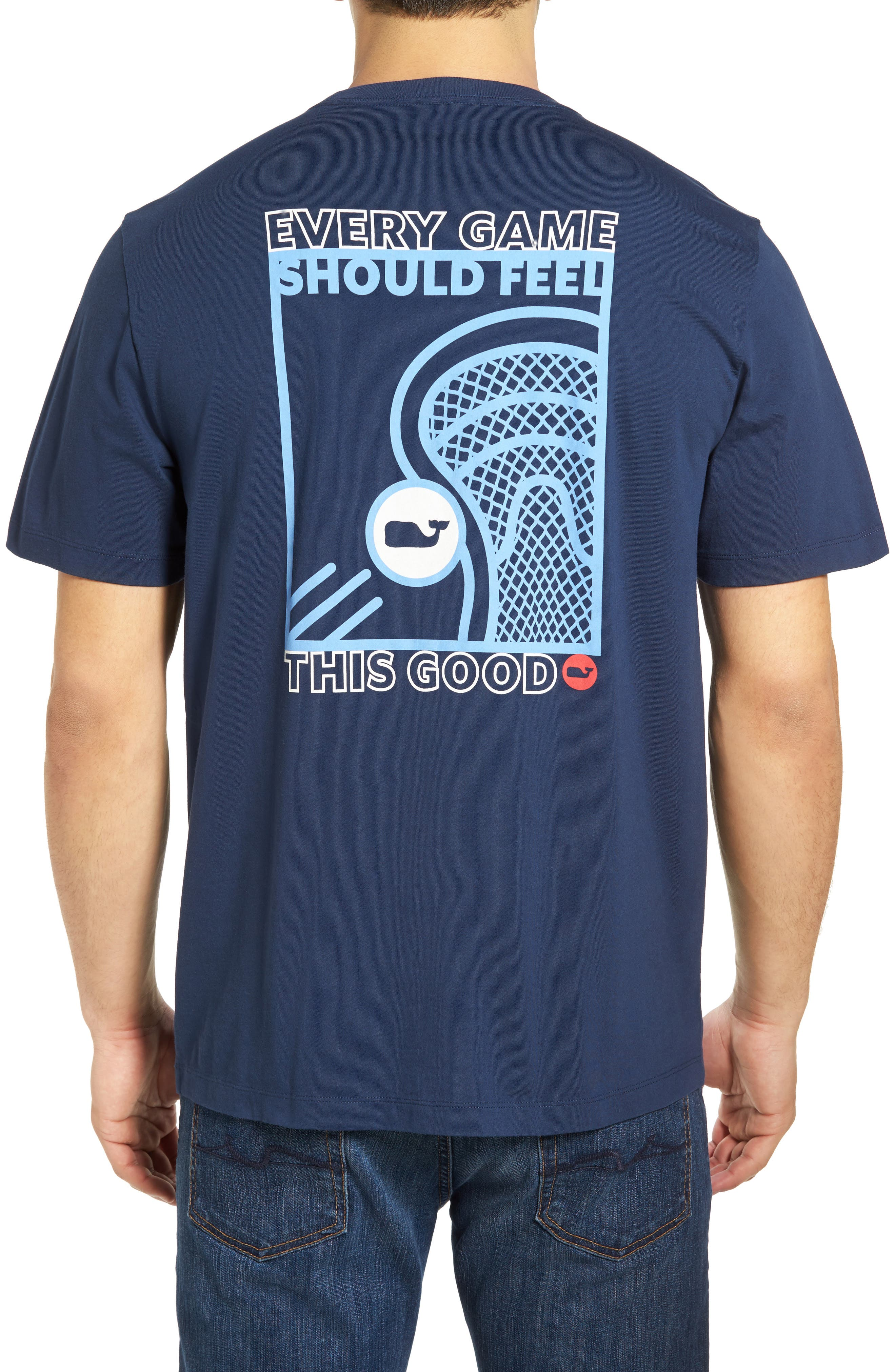 Vineyard Vines Lacrosse Box Graphic Pocket T-Shirt