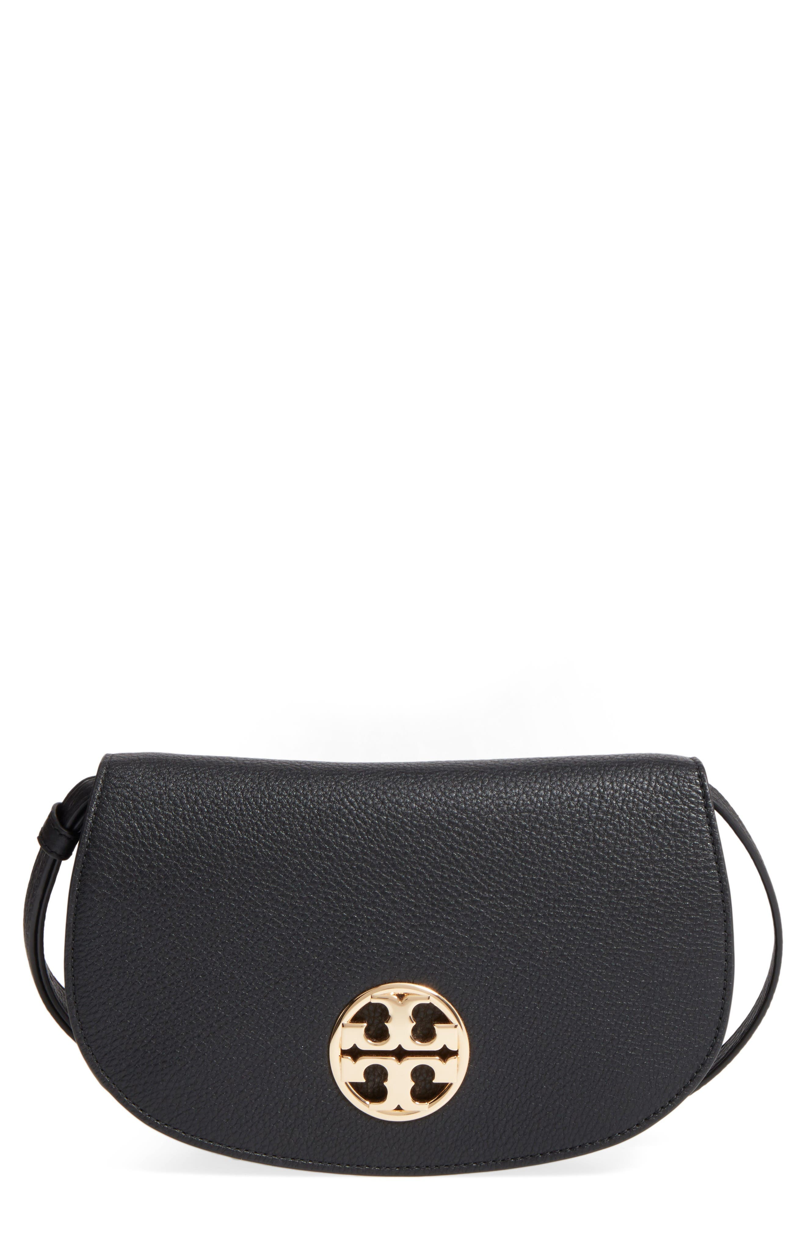 Main Image - Tory Burch Jamie Leather Clutch