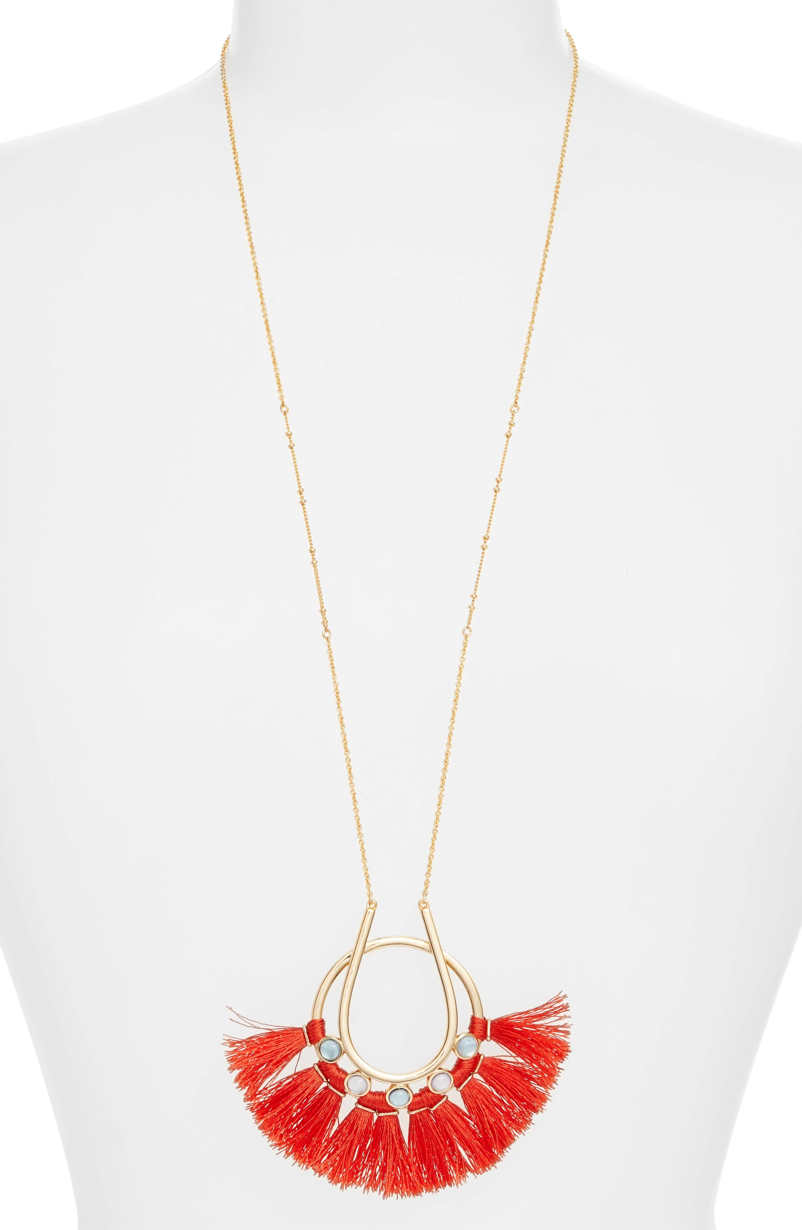 Rebecca Minkoff Utopia Tassel Pendant Necklace