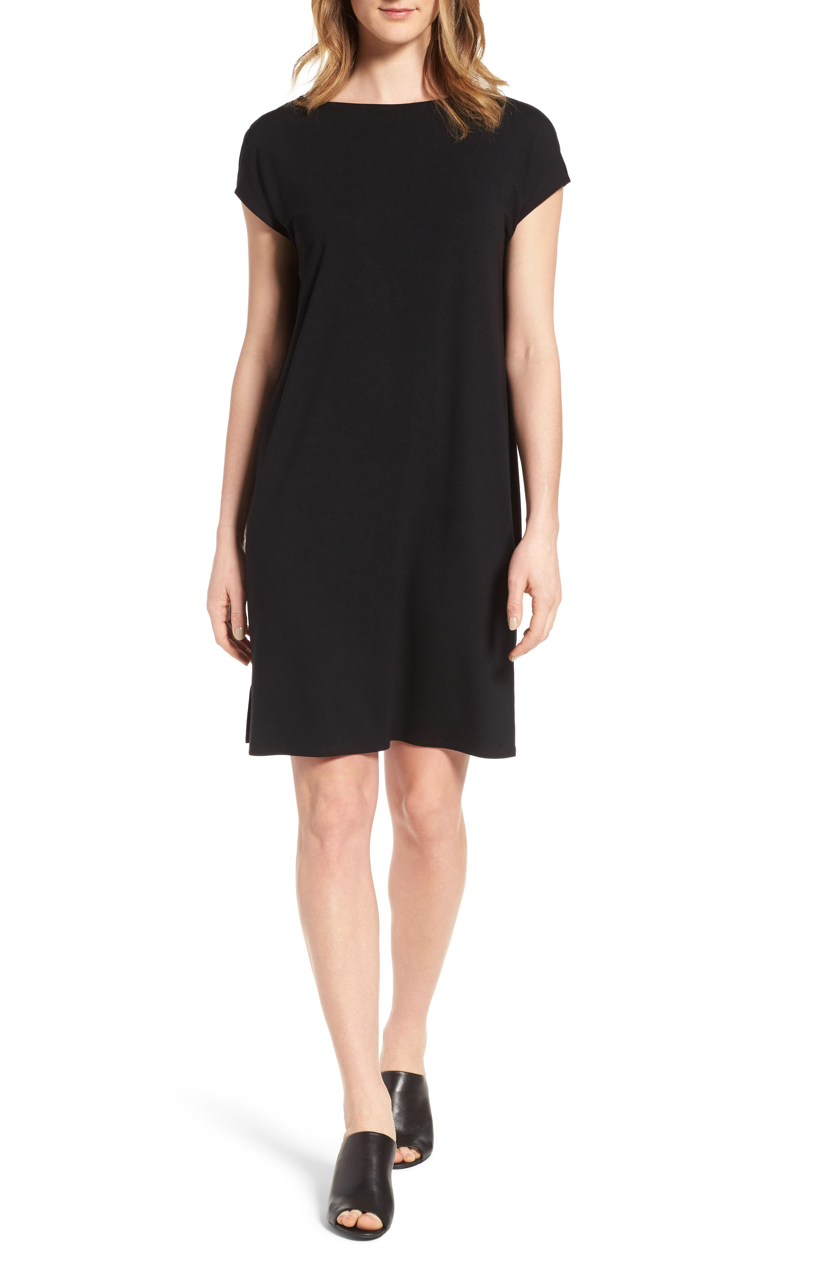 Eileen Fisher Jersey Shift Dress (Regular & Petite)