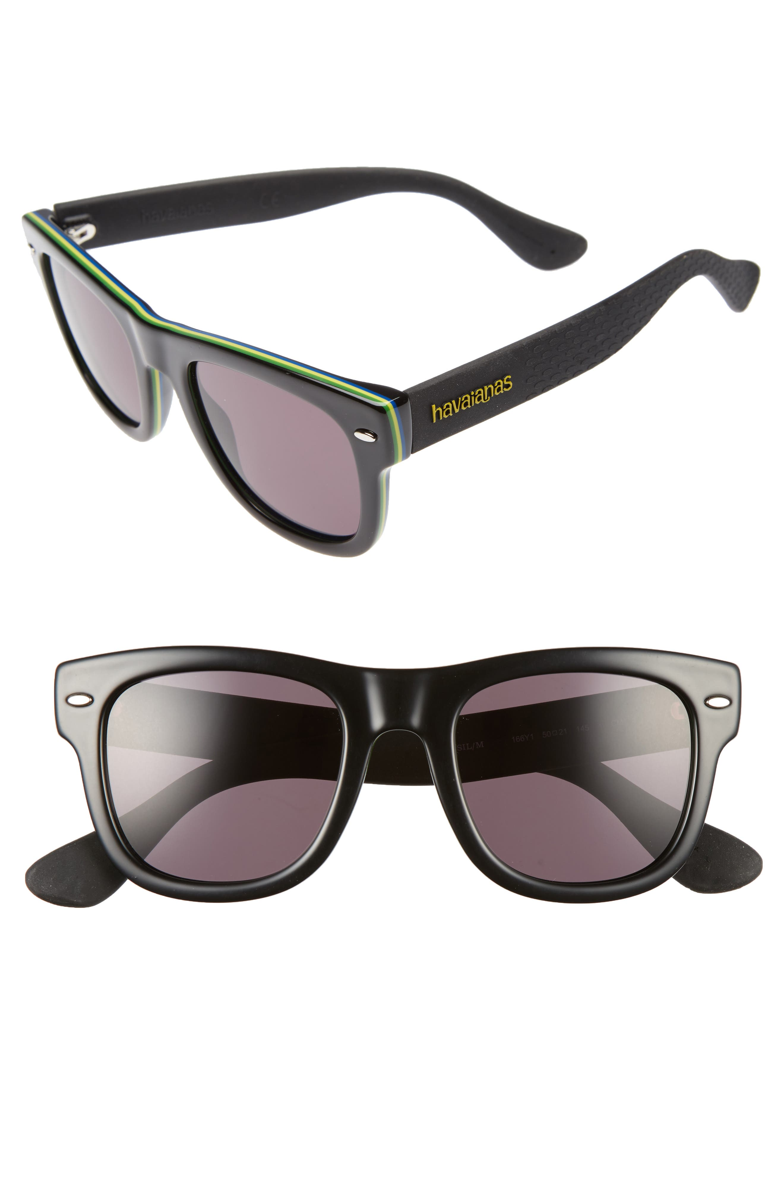 Havaianas Brasil 50mm Square Sunglasses