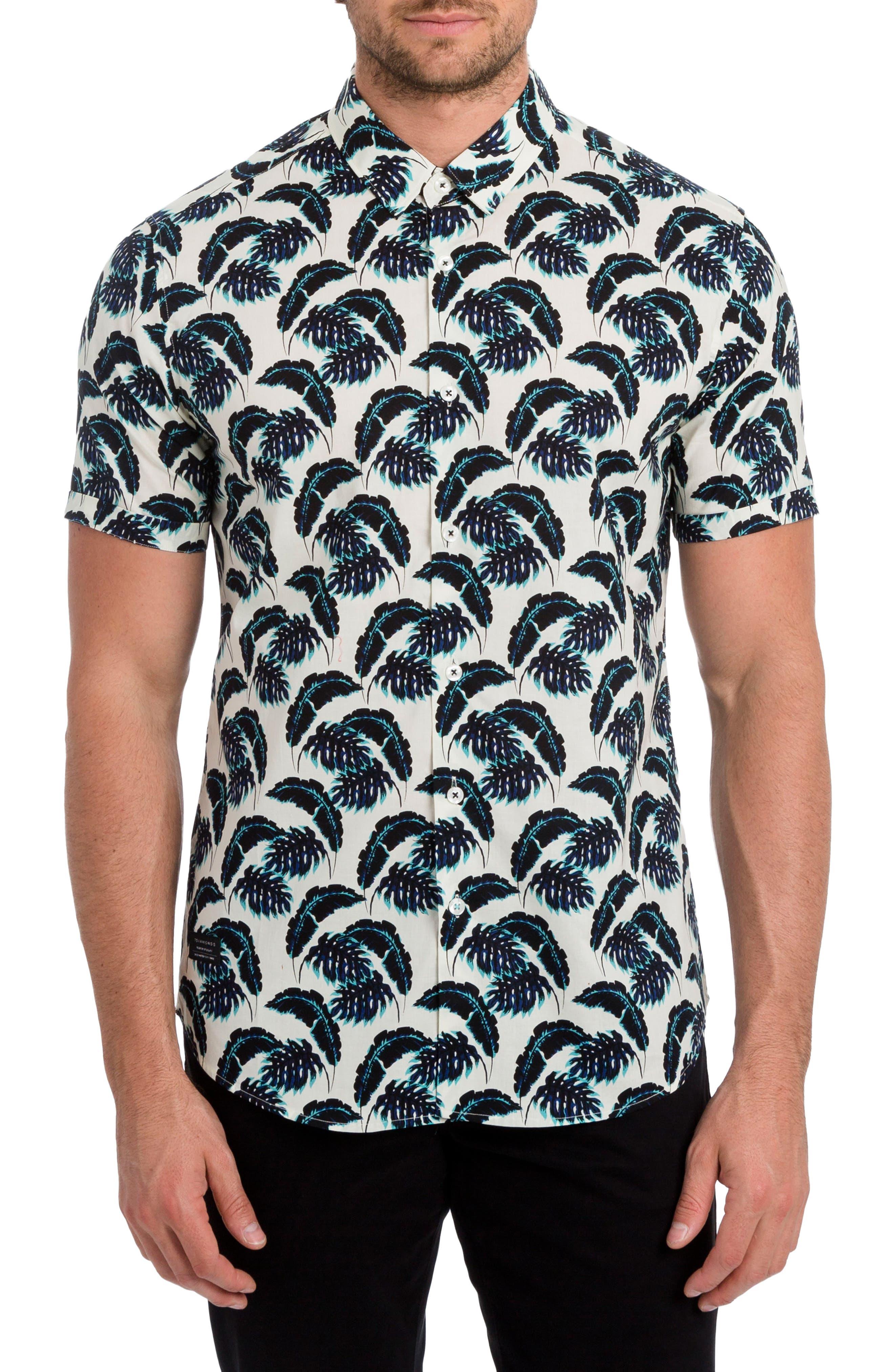 7 Diamonds Lost in Paradise Print Woven Shirt
