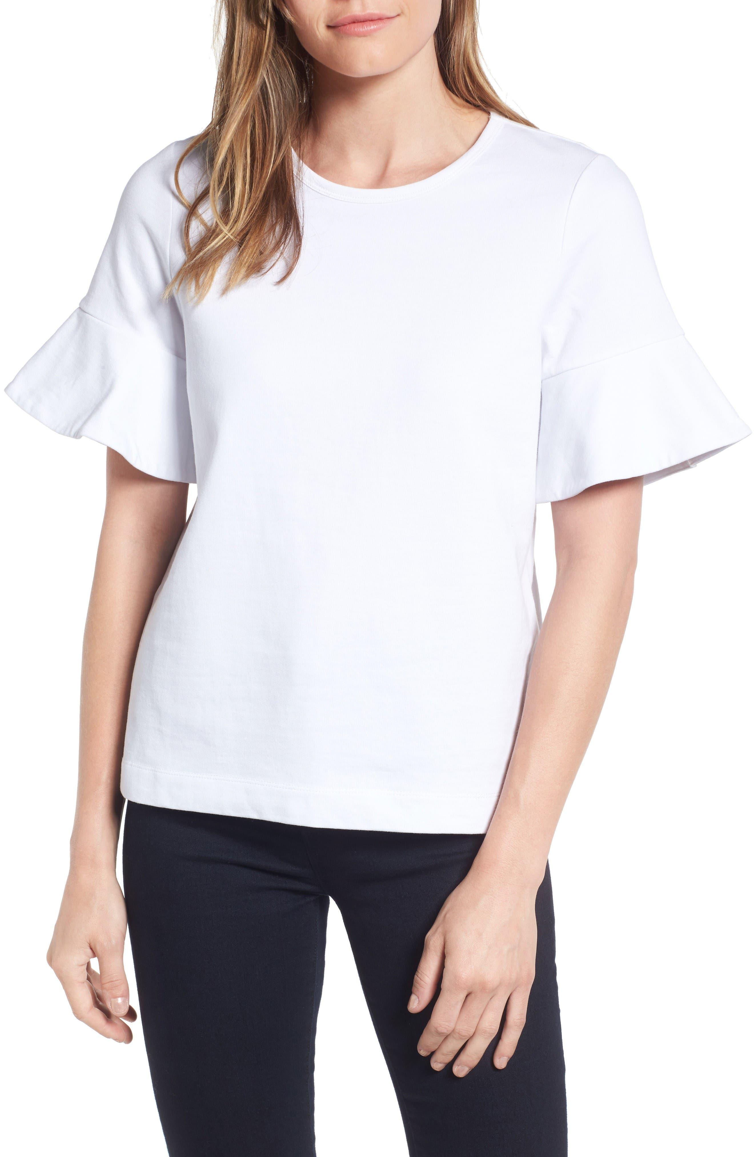 Draper James Ruffle Sleeve Tee (Nordstrom Exclusive)