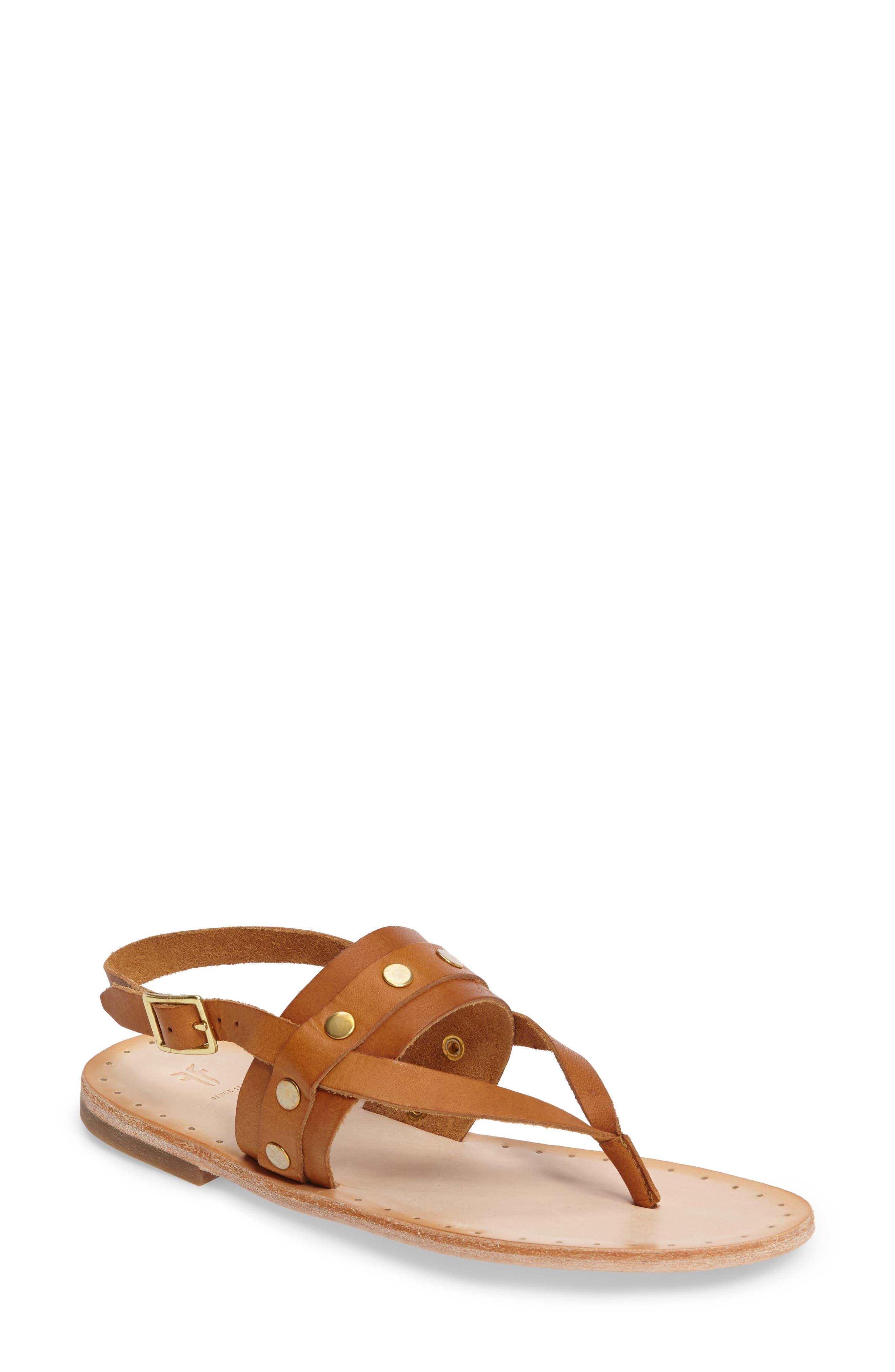 Frye Avery Stud Flat Sandal (Women)