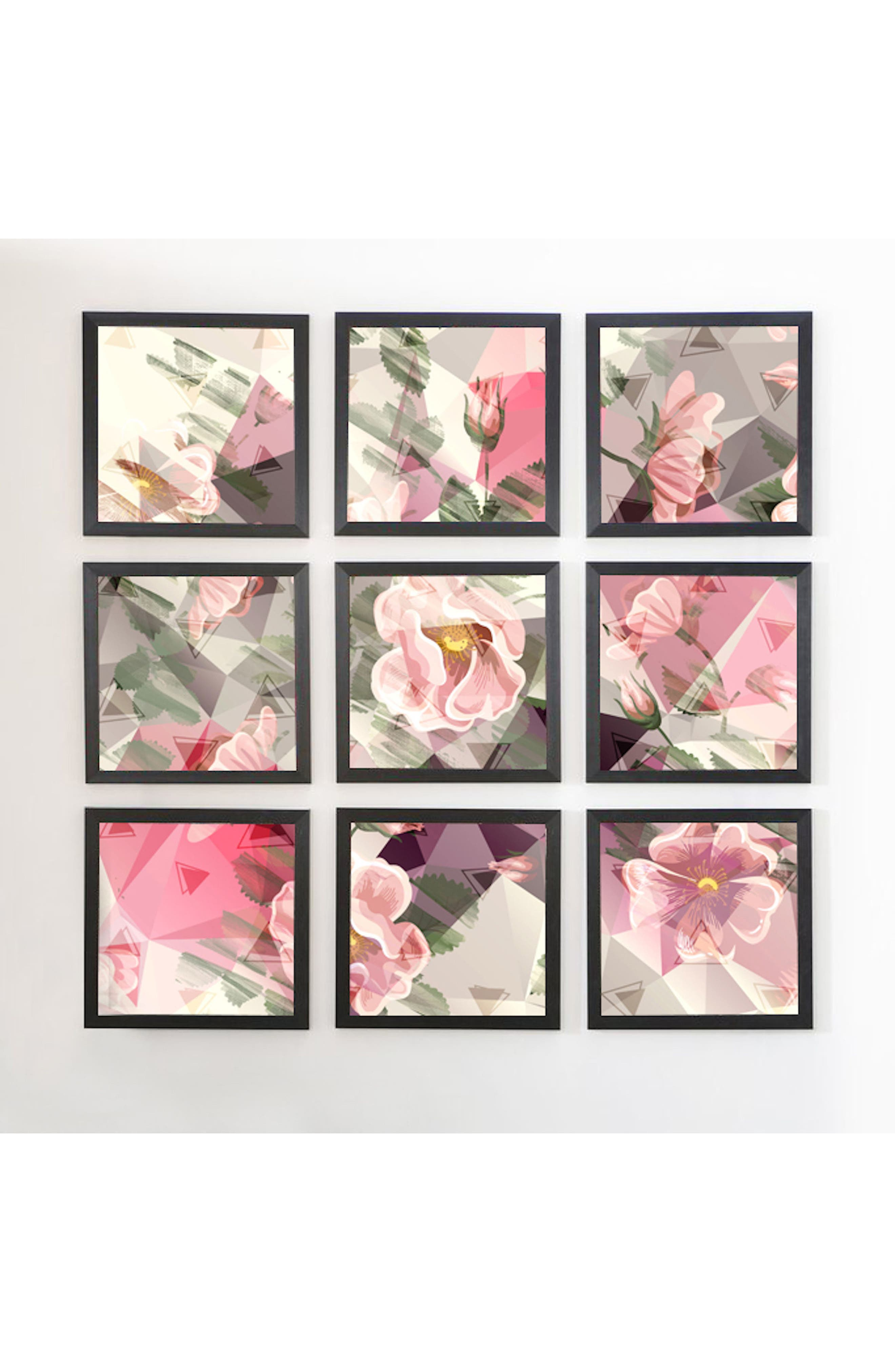 Alternate Image 1 Selected - DENY Designs 9-Piece Geometric Framed Wall Mural