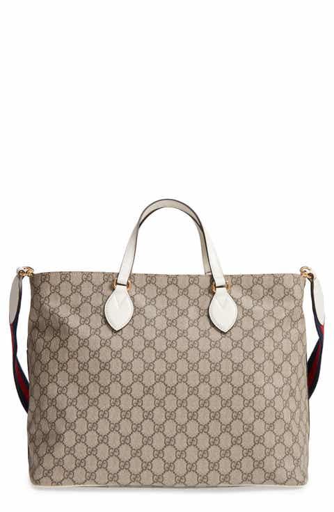 Gucci Logo Print Diaper Bag