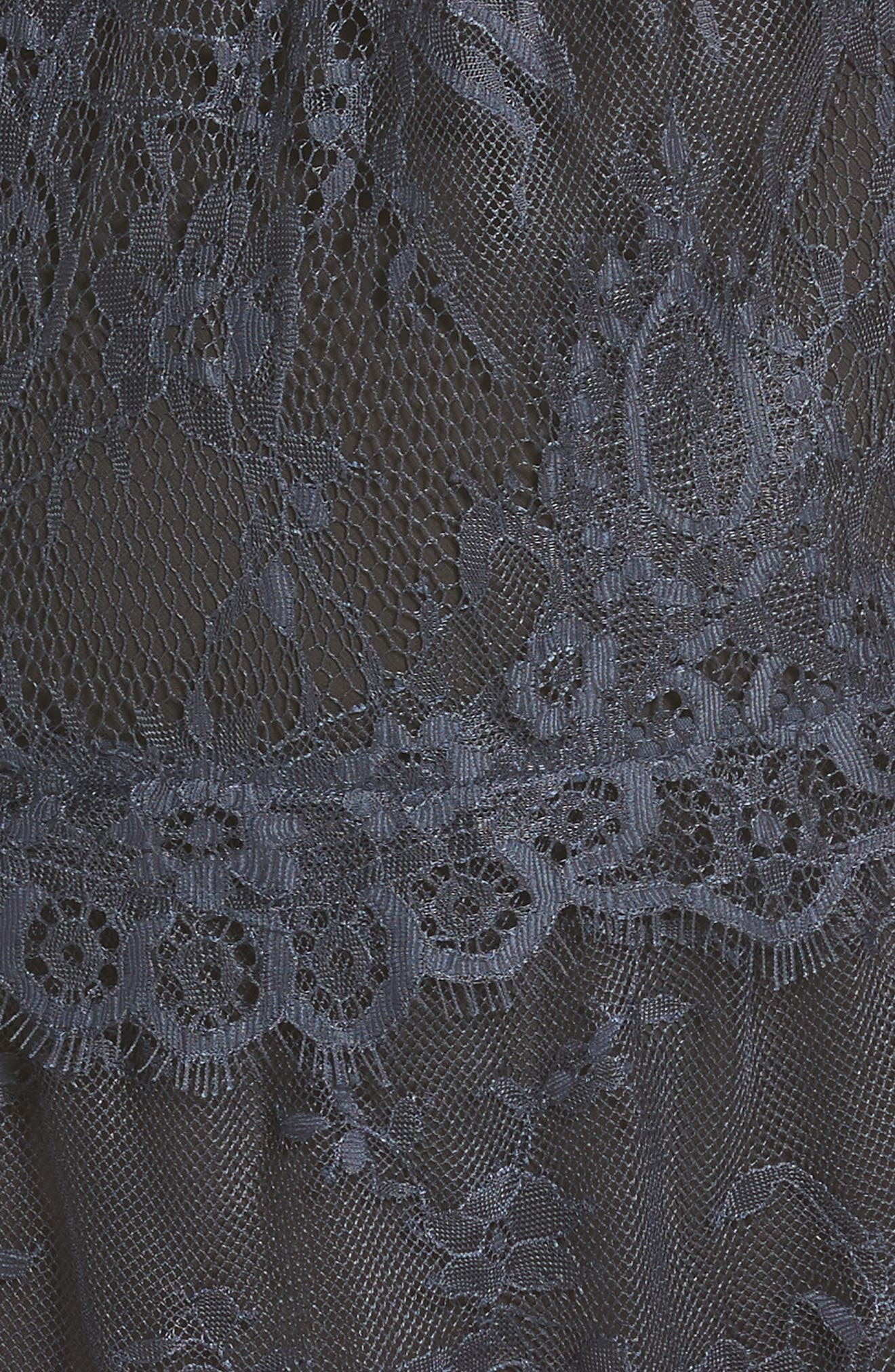 Alternate Image 5  - Self-Portrait Frilled Lace Midi Dress