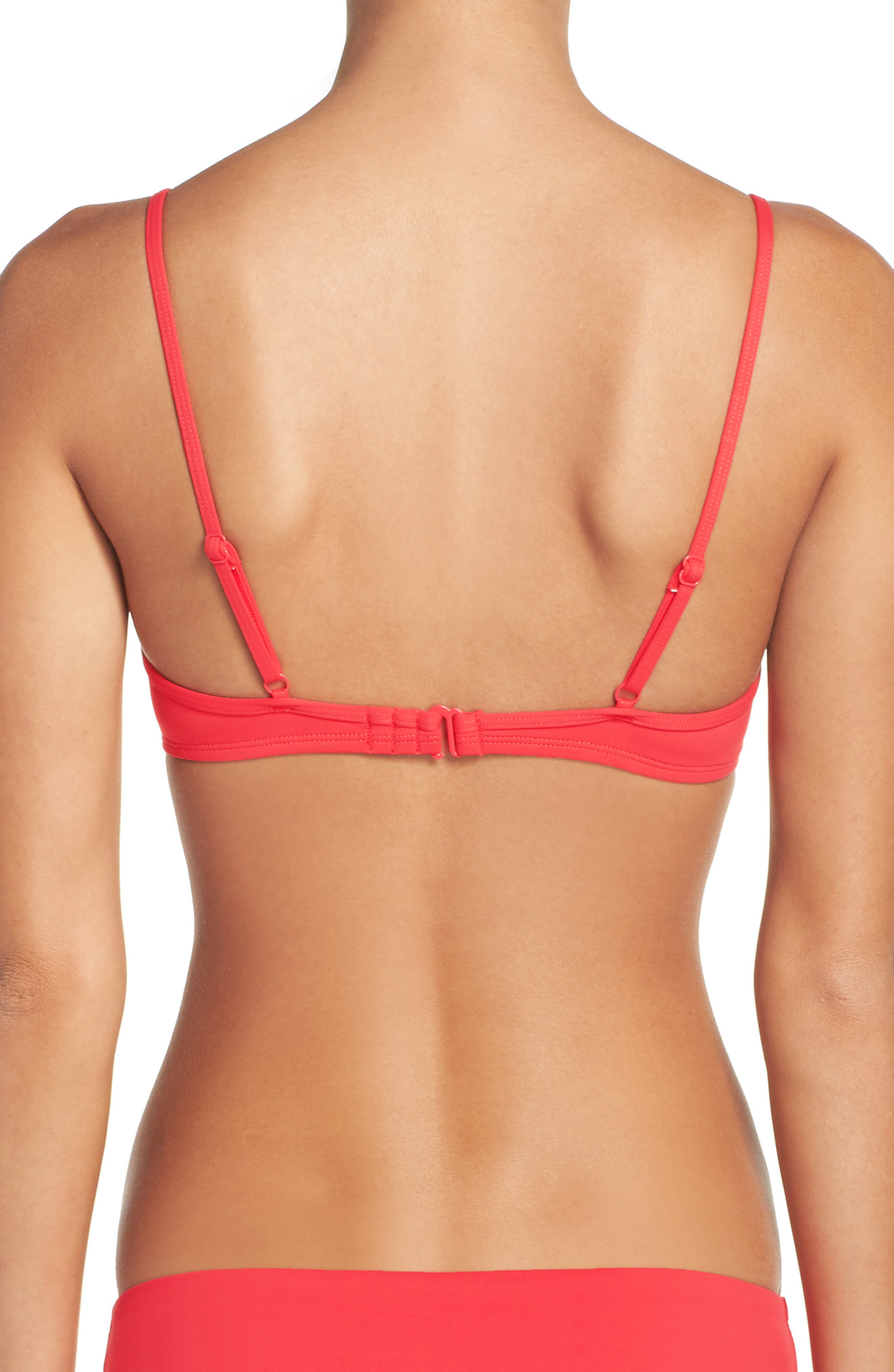 Alternate Image 2  - J.Crew Scalloped Italian Matte Bikini Top