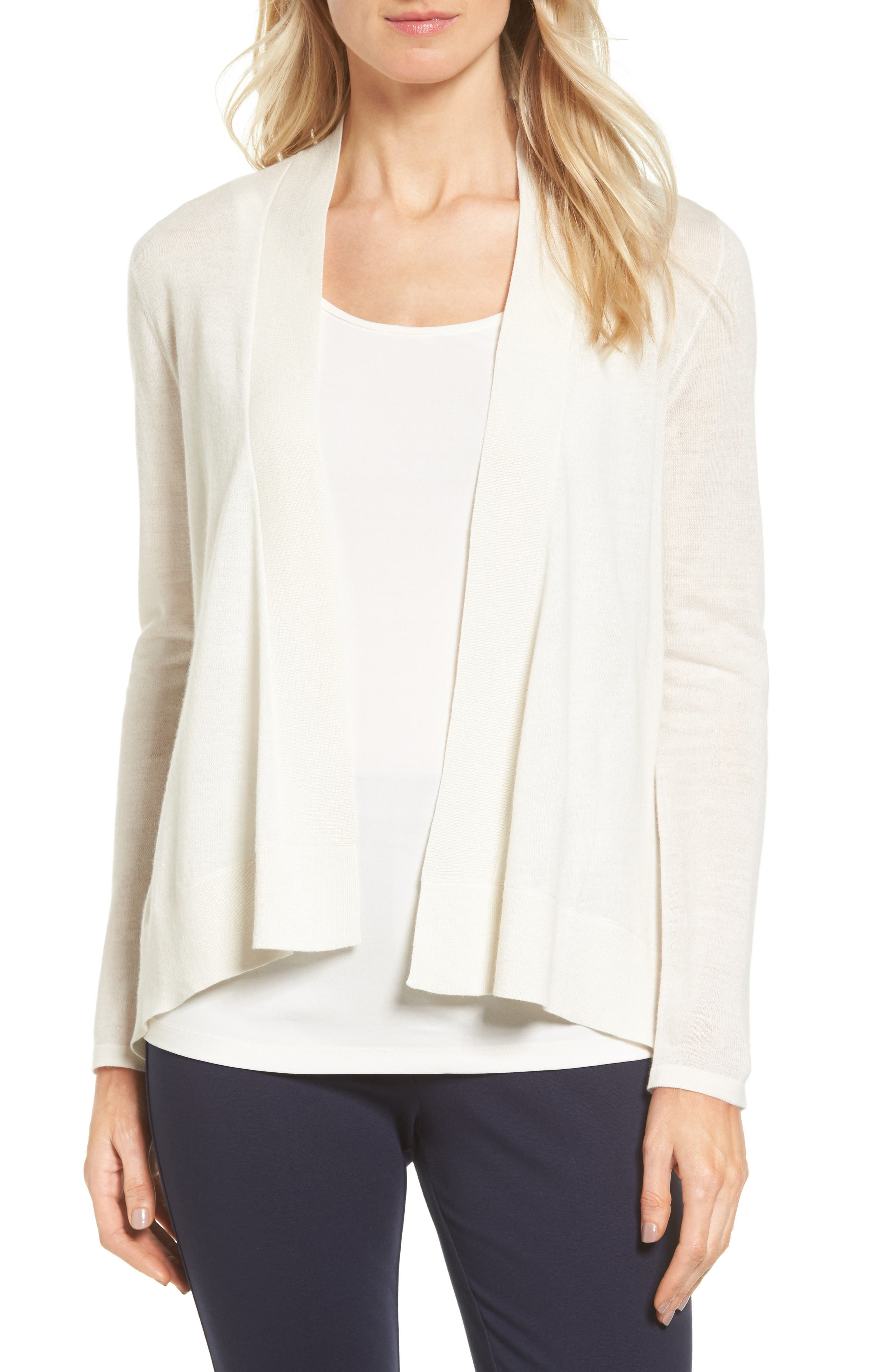 Nordstrom Collection Cashmere & Linen Cardigan